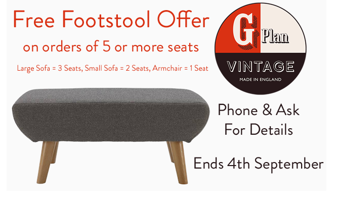 G Plan Vintage The Fifty Nine Range of Sofas, Armchairs & Footstools - -- Sale Ends Bank Holiday Monday!