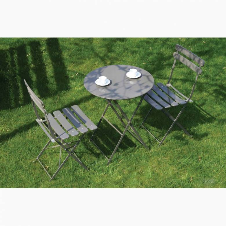 Peat Bistro Set Of Table & Two Chairs