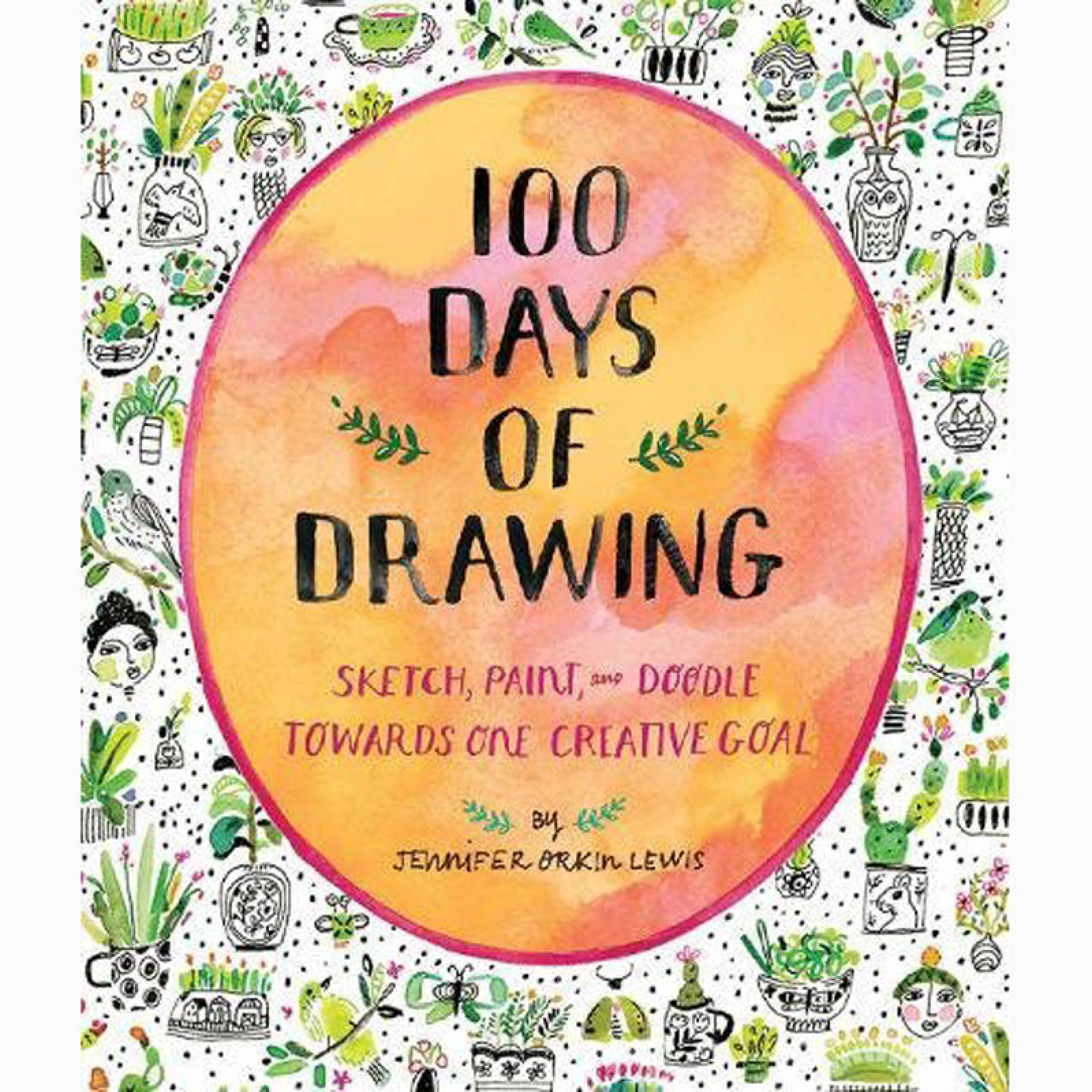 100 Days Of Drawing - Paperback Book thumbnails