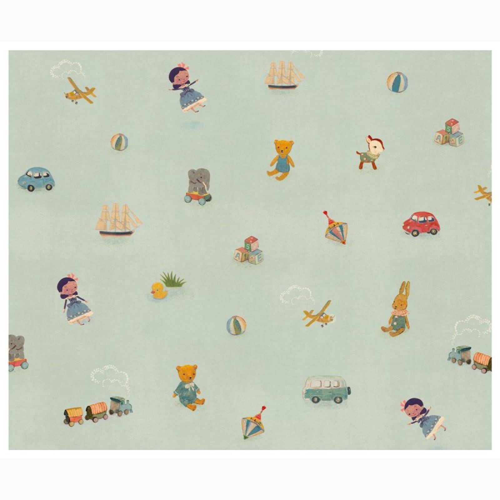 10M Roll Wrap - Toy Print By Maileg