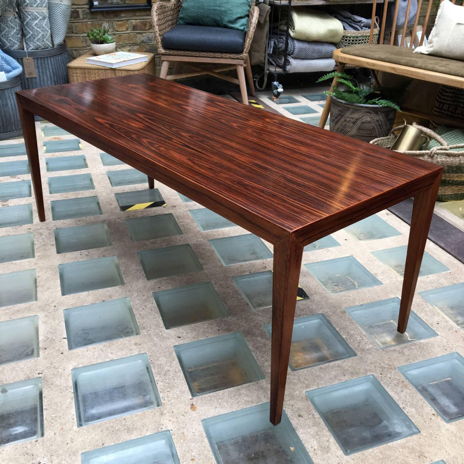 1960s Rosewood Coffee Table By Severin Hansen Haslev Møbelfabrik