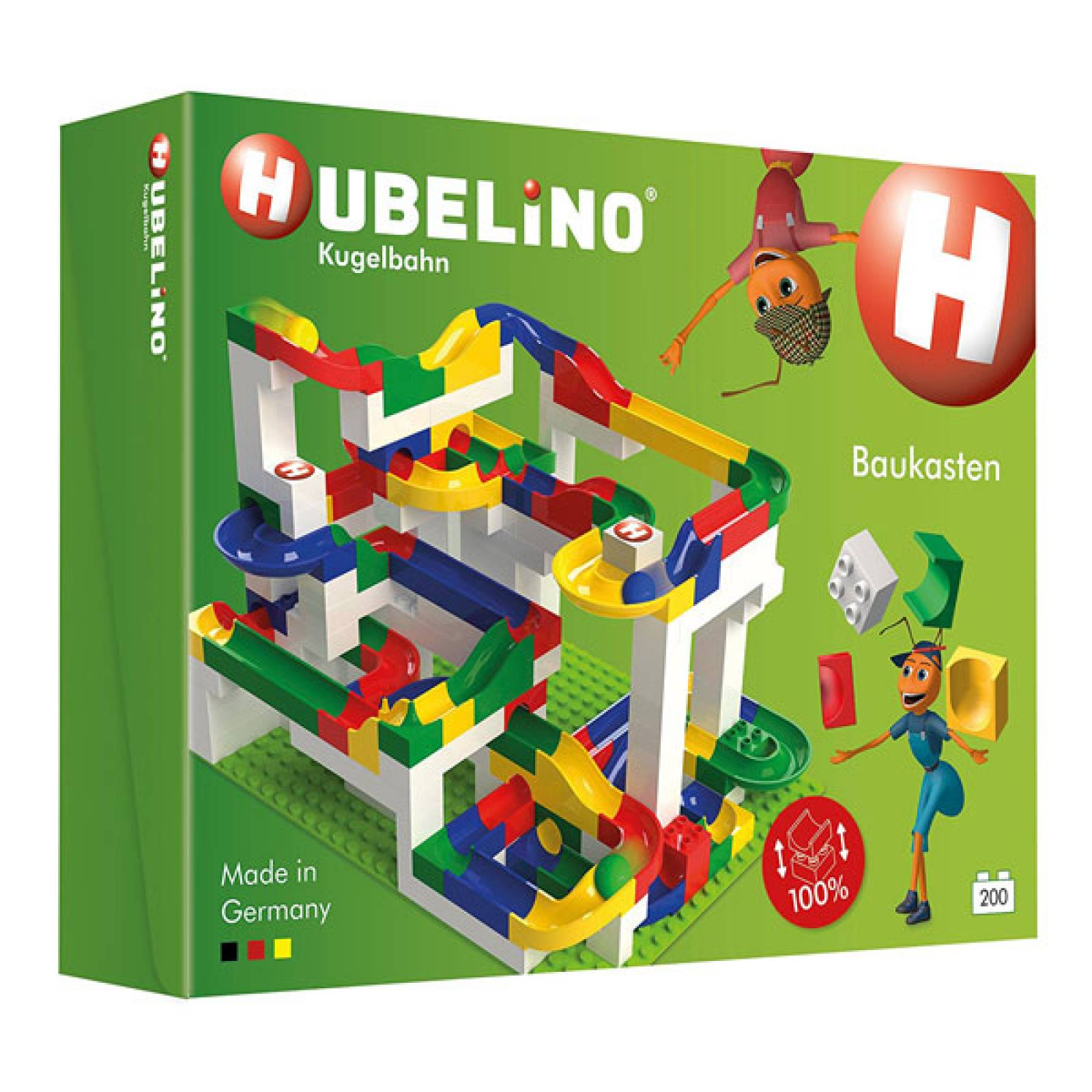 Hubelino 200pc Marble Run Construction Set  4+