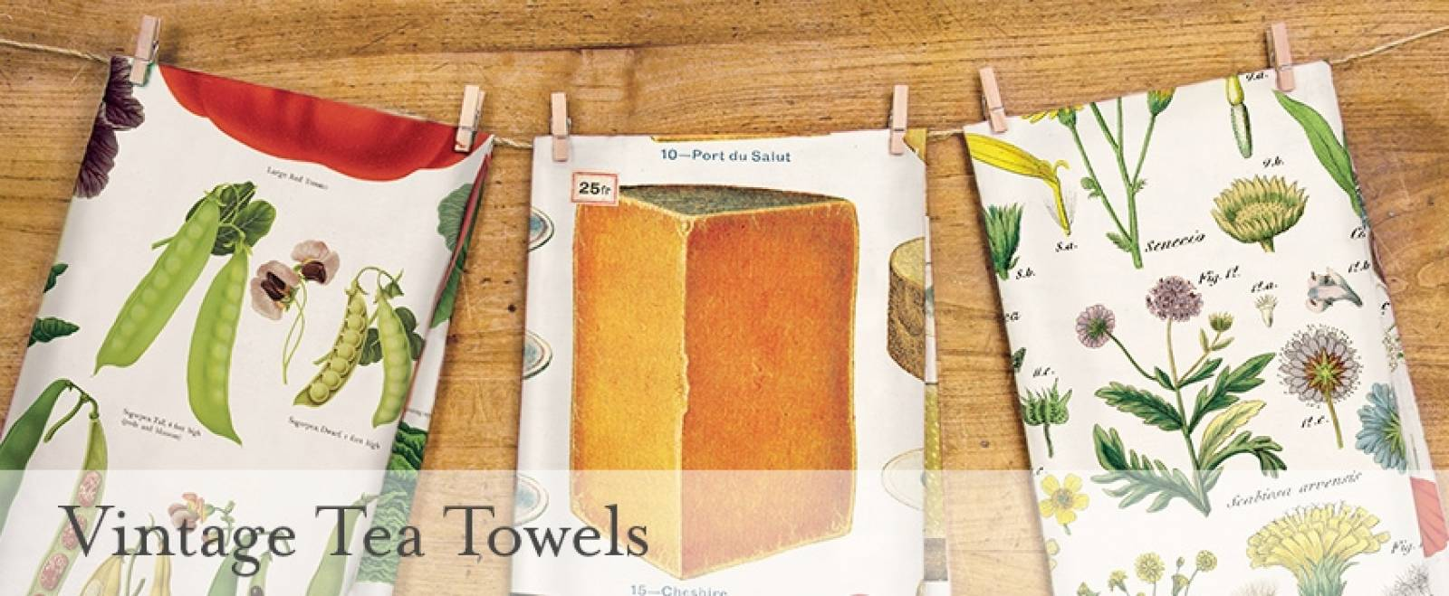 Vegetable Garden Cotton Tea Towel With Gift Bag thumbnails