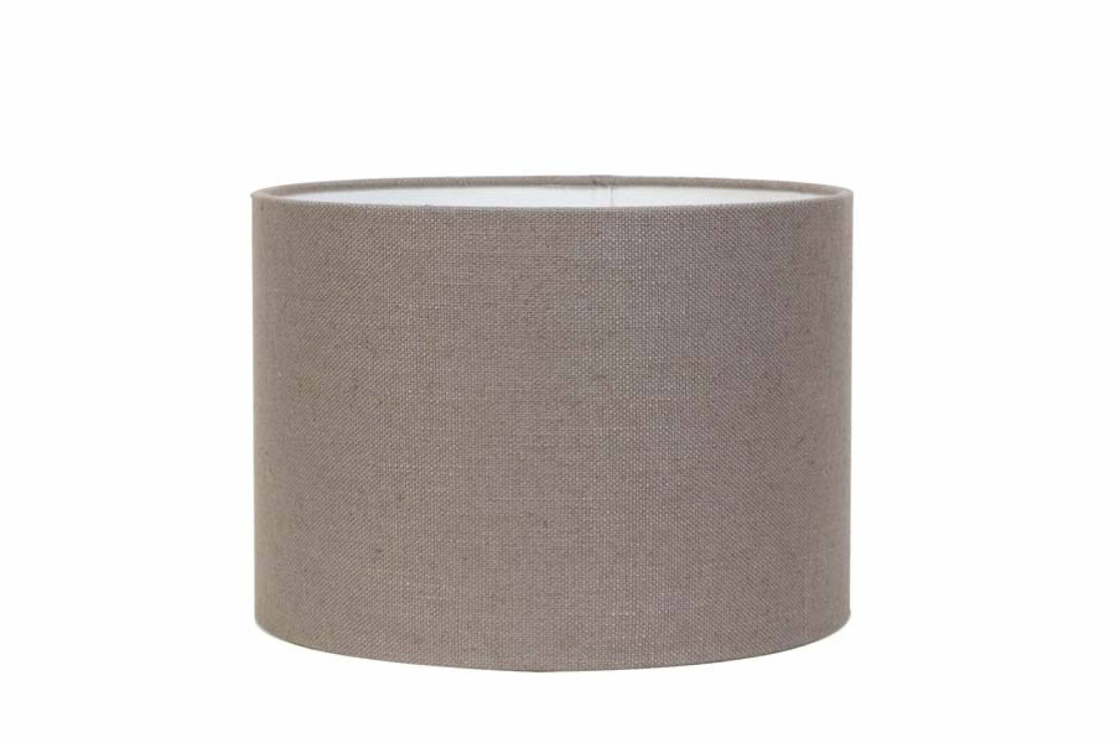 Small Linen Shade In Liver Grey 20cm