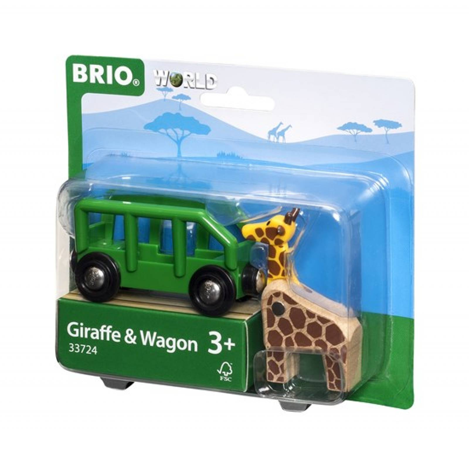 Giraffe and Wagon BRIO Wooden Railway Age 3+