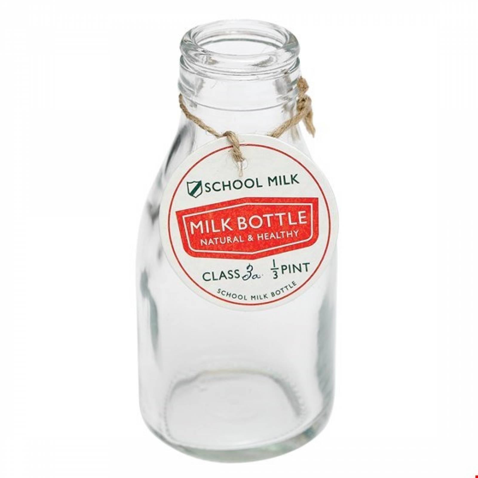 Old School Milk Bottle 13cm