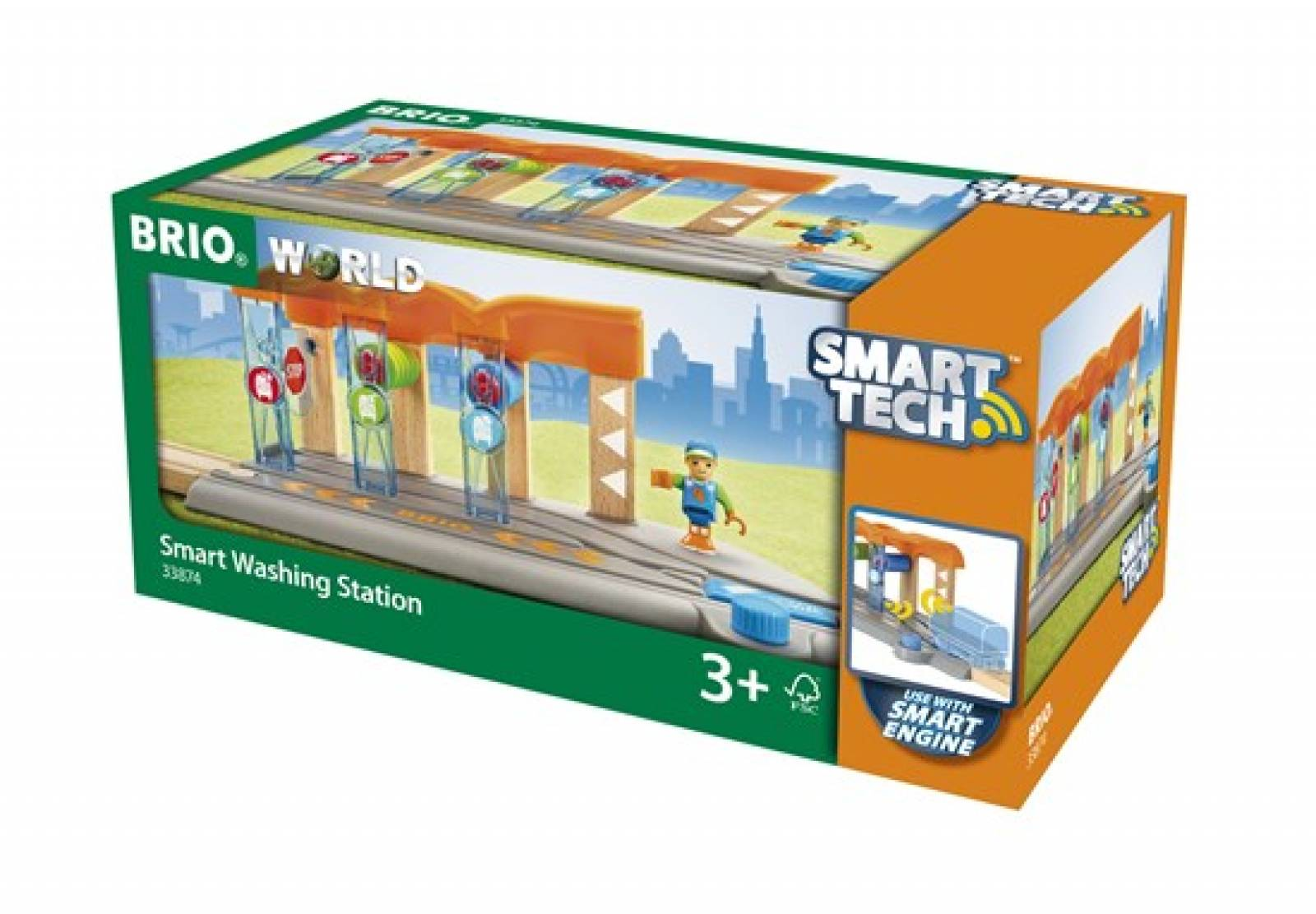 Smart Tech Washing Station BRIO® Wooden Railway Age 3+ thumbnails
