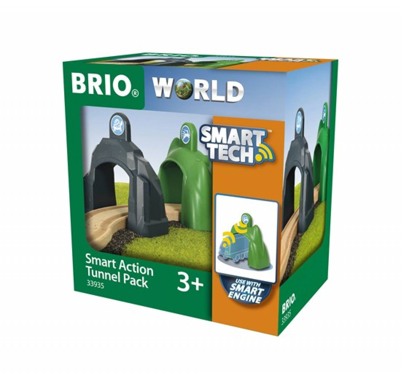 Smart Tech Action Tunnel Pack BRIO Wooden Railway Age 3+