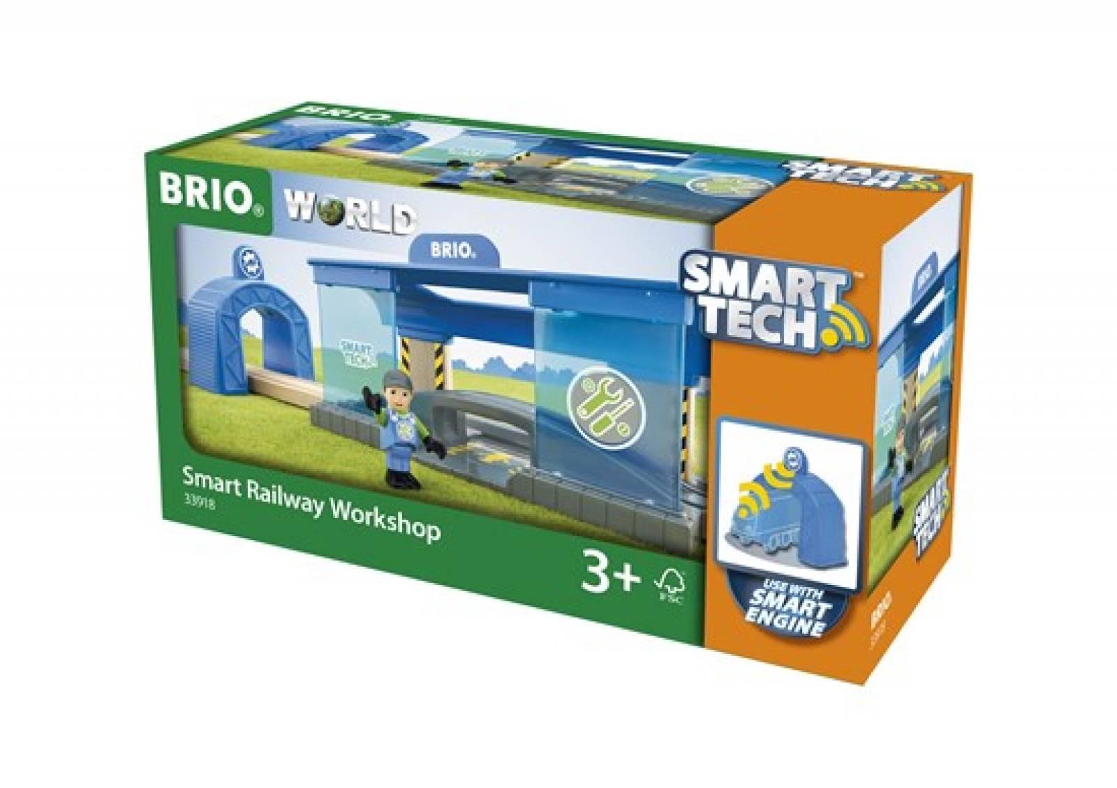 Smart Tech Railway Workshop BRIO Wooden Railway Age 3+