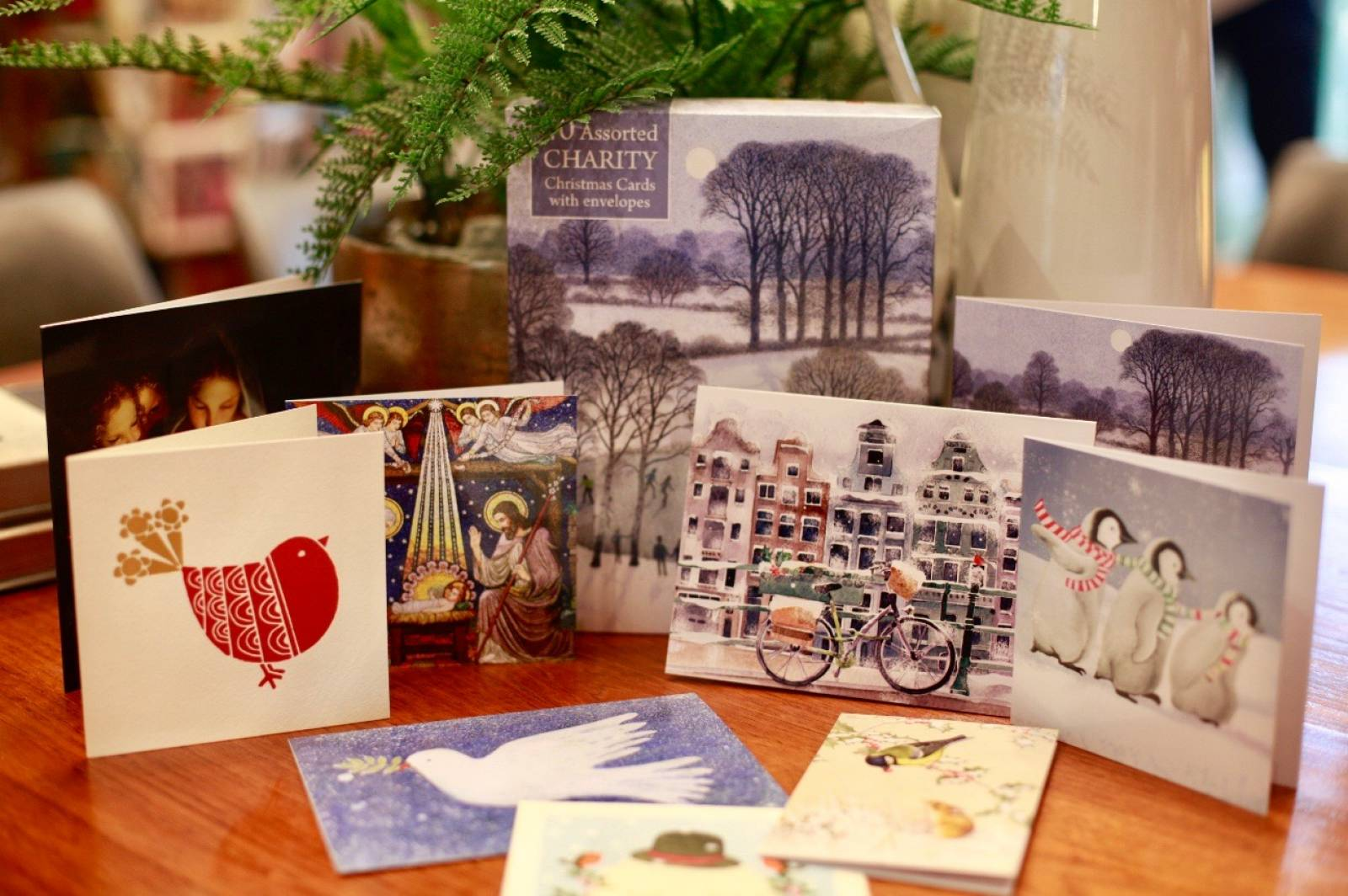40 Christmas Card Mixed Charity Box By M&G thumbnails