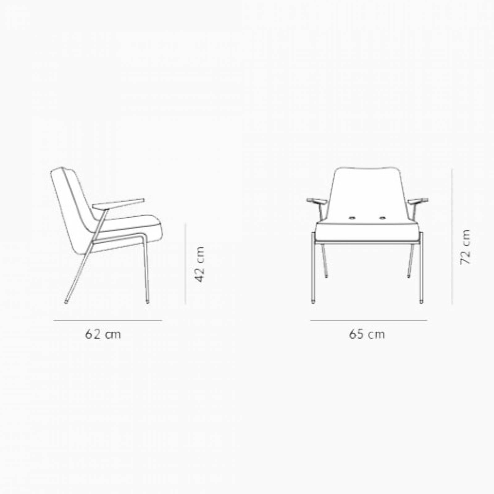 366 Metal Armchair - Type 1 Fabric thumbnails