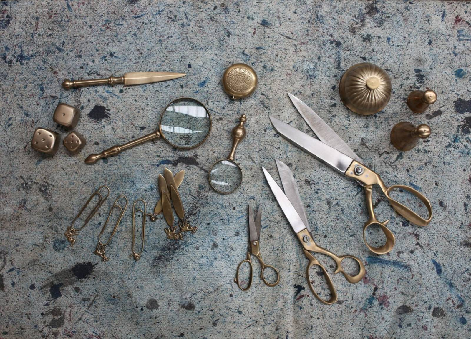 Ndusa Antiqued Brass Magnifying Glass thumbnails