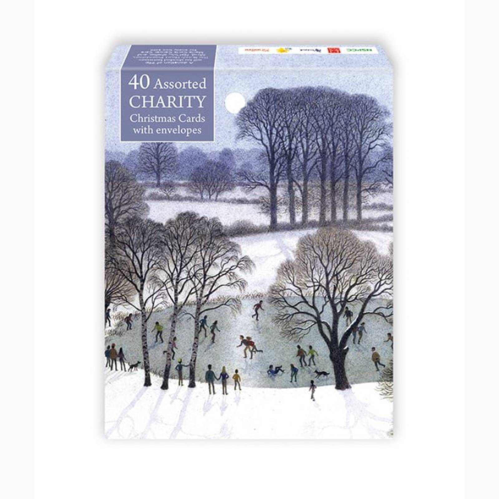 40 Christmas Card Mixed Charity Box By M&G