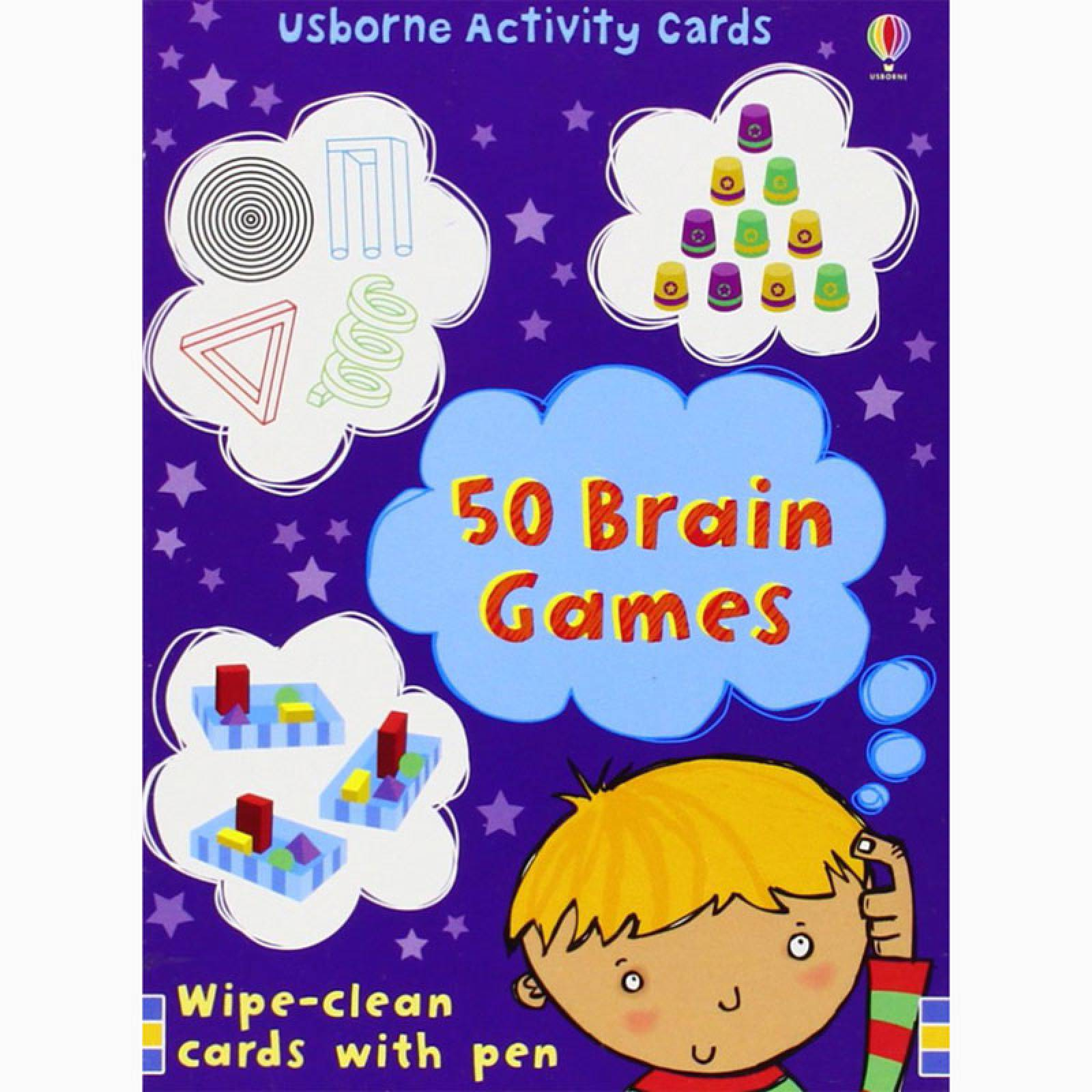 50 Brain Games Activity Cards