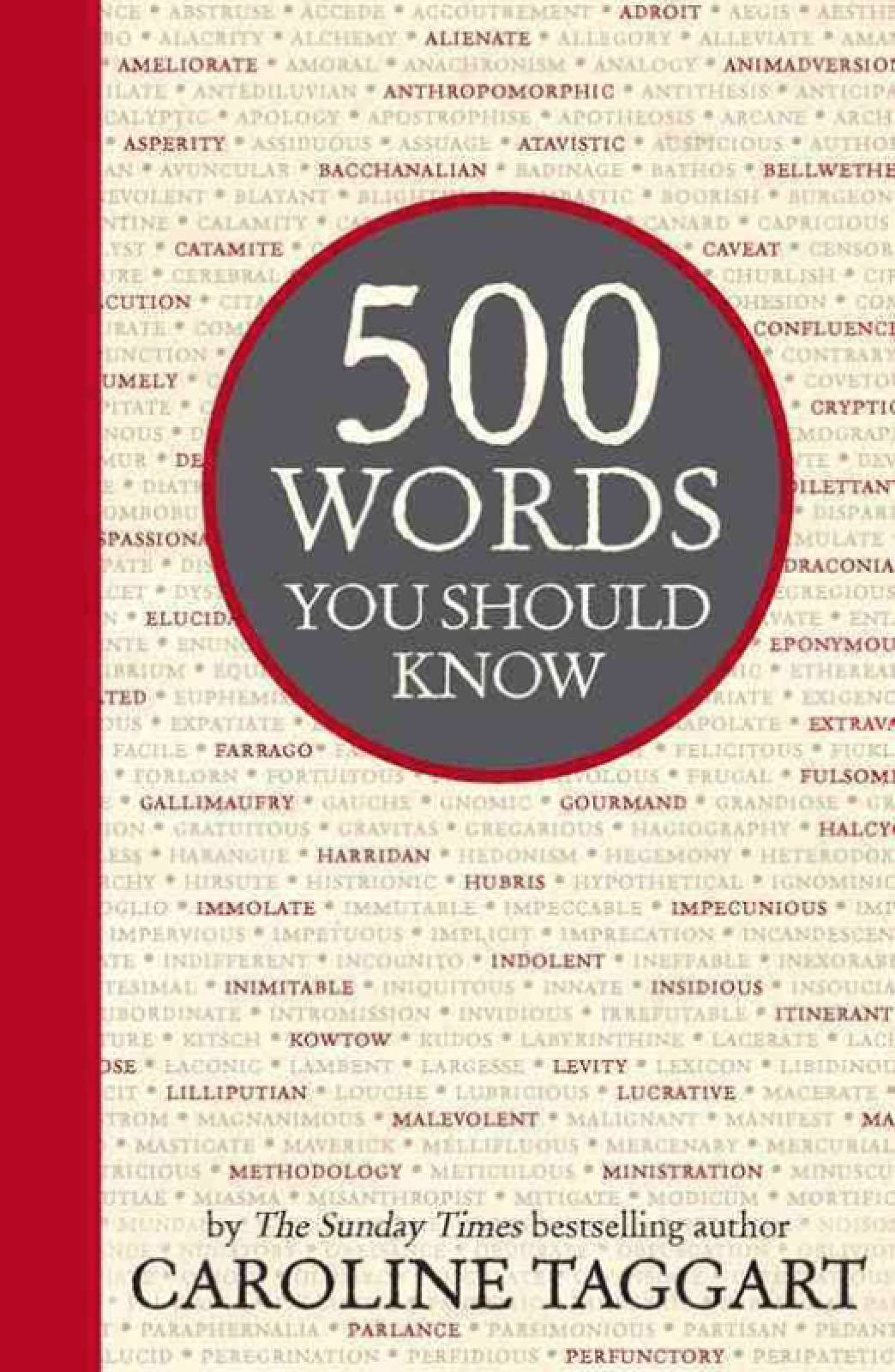 500 Words You Should Know By Caroline Taggart Hardback Book