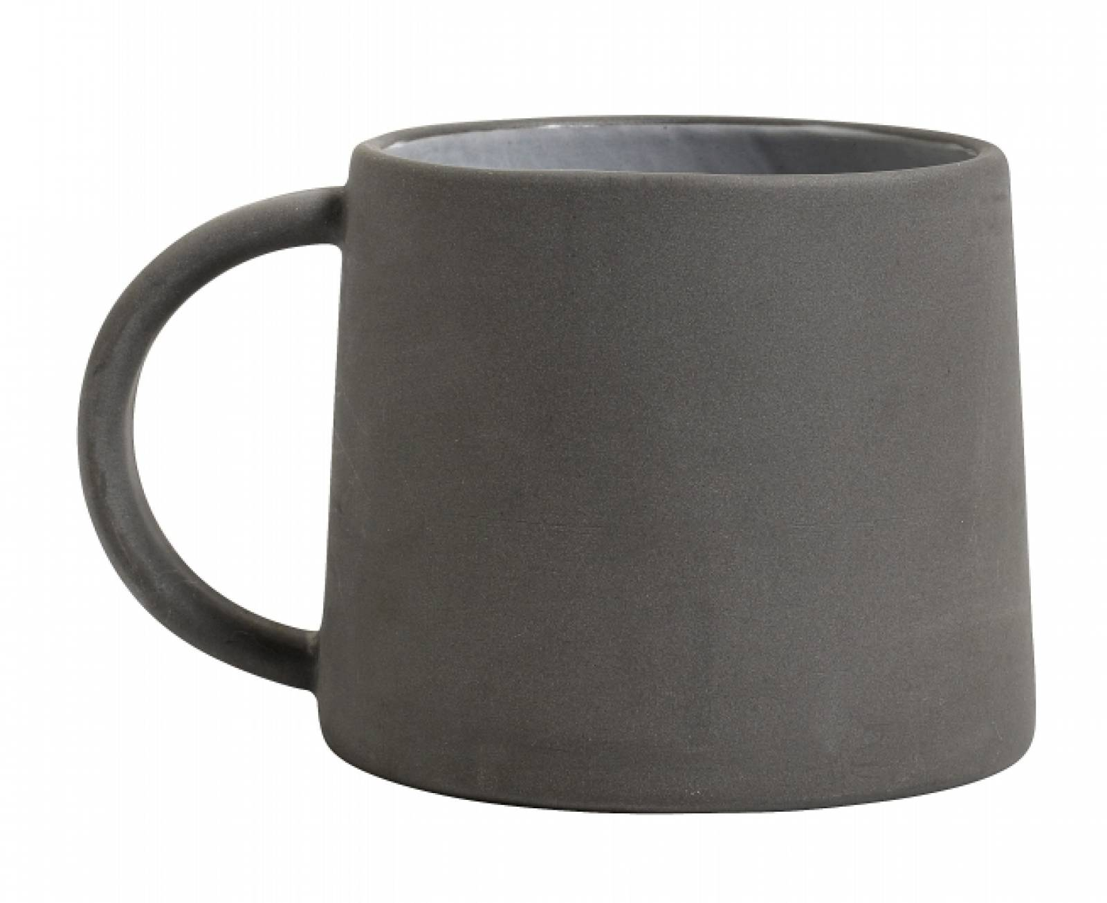 Stoneware Mug Grey / White