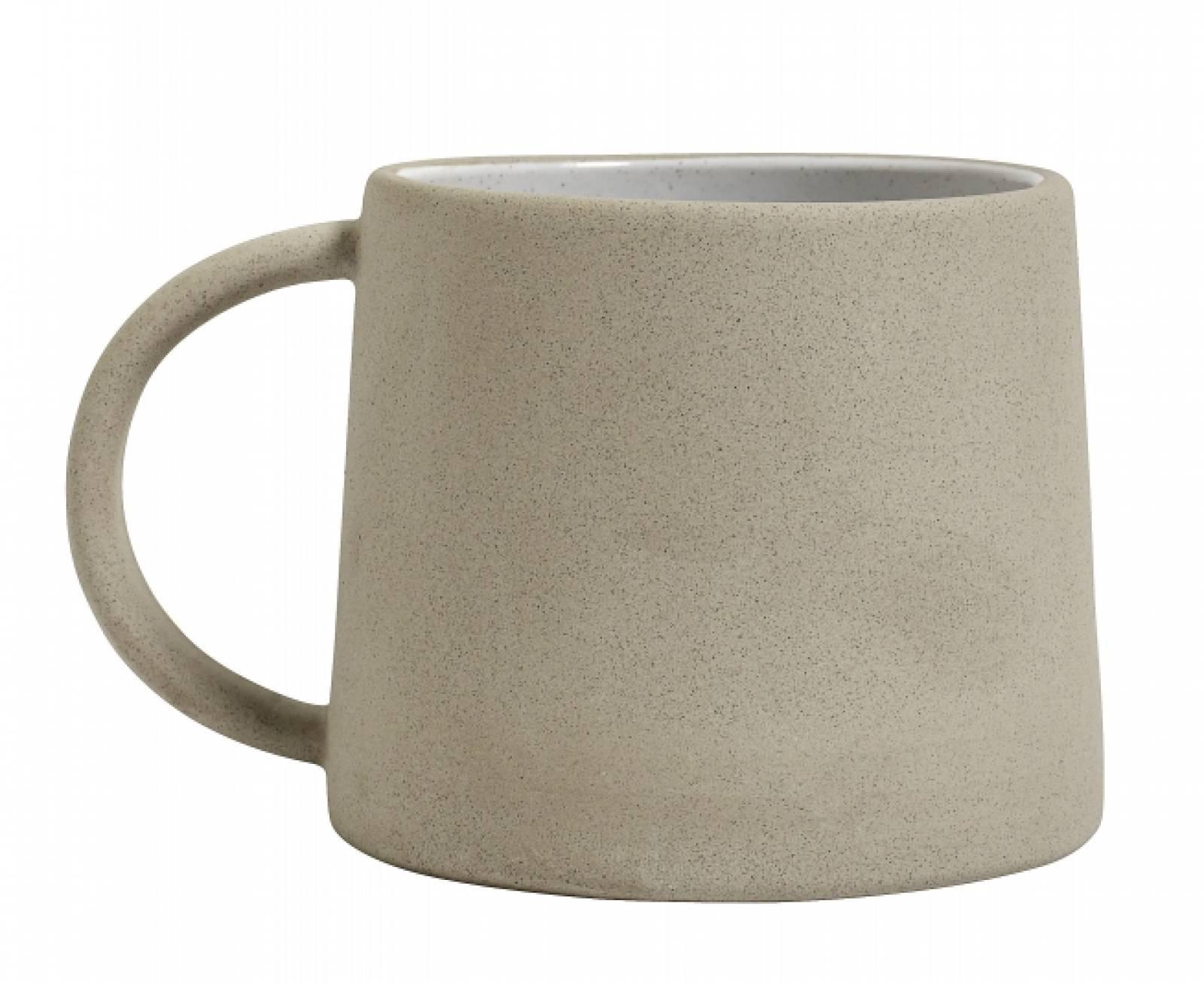 Stoneware Mug Beige / White