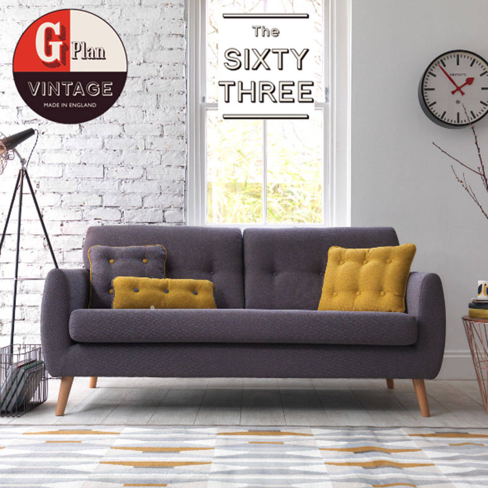 G Plan Vintage The Sixty Three Large Sofa thumbnails