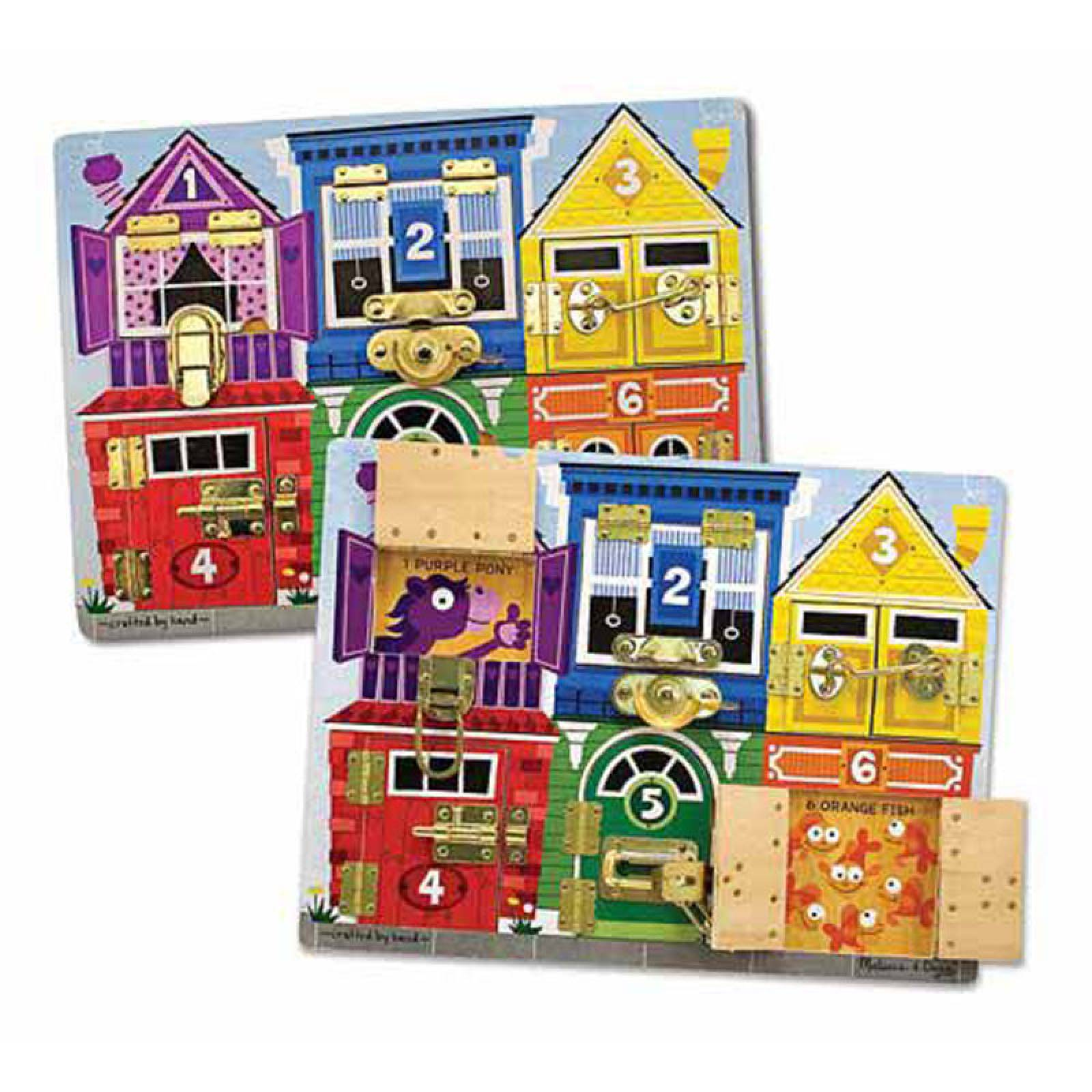 Wooden Latches Board 3+