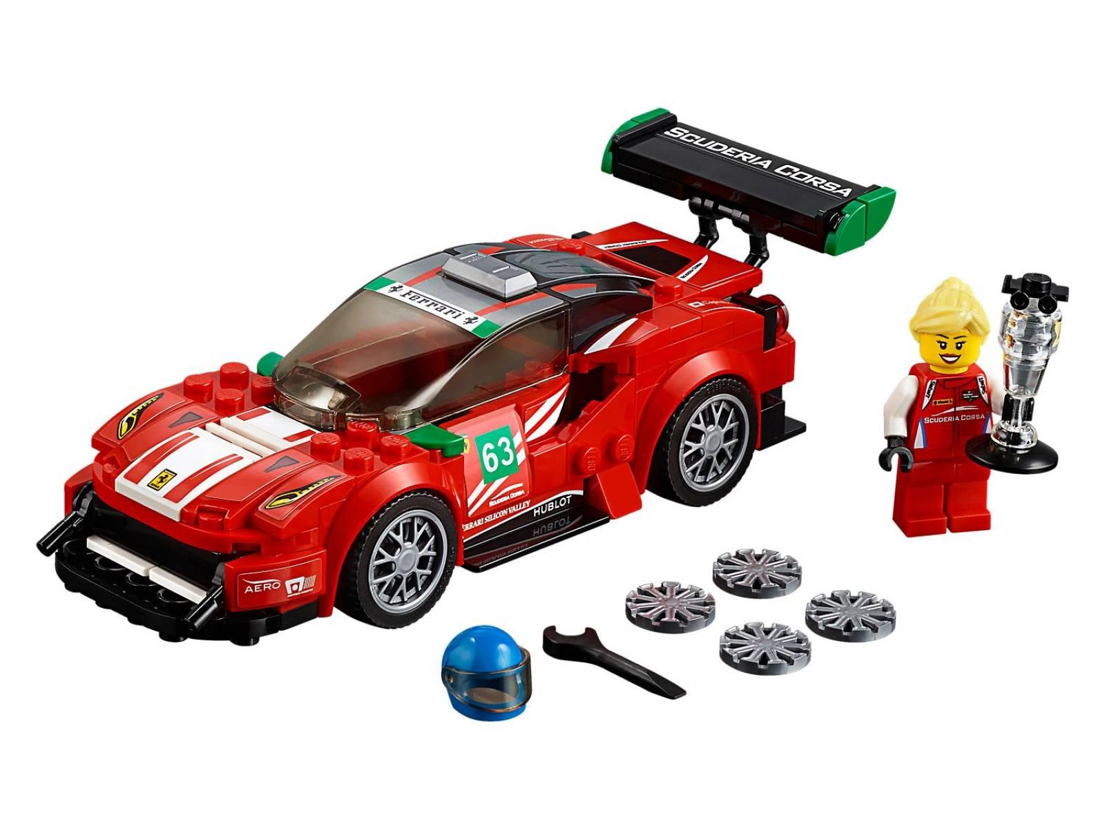 LEGO® Speed Champions Ferrari 488 GT3 Scuderia Corsa 75886 thumbnails