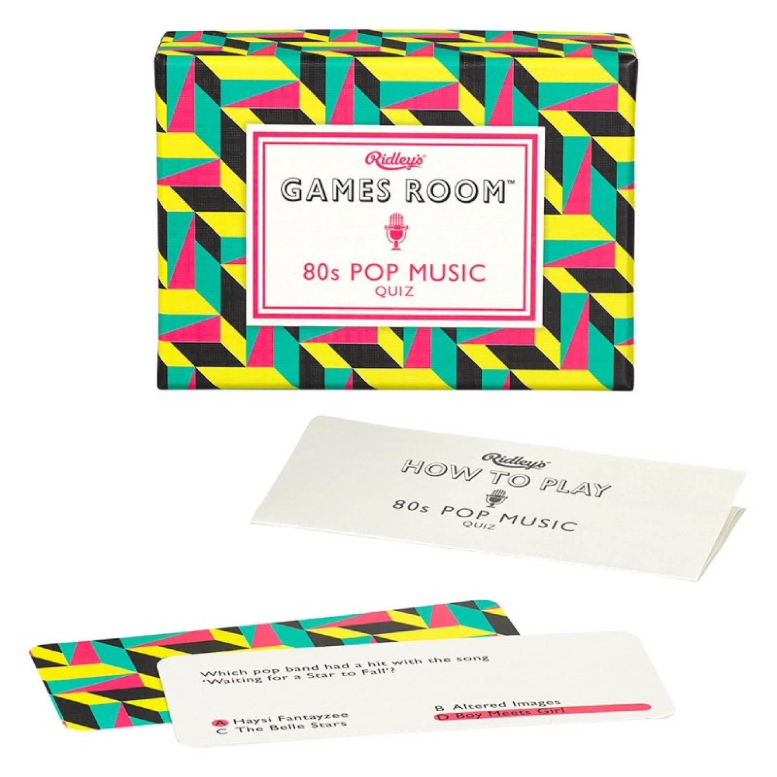 80s Pop Music Quiz Game In Retro Box