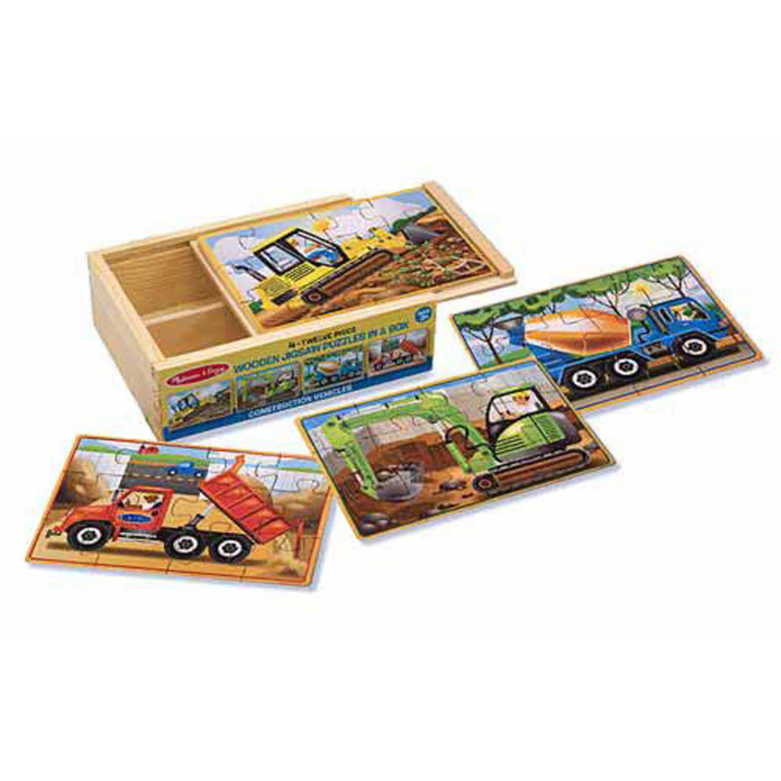 Construction - 4 Puzzles In A Box 3+