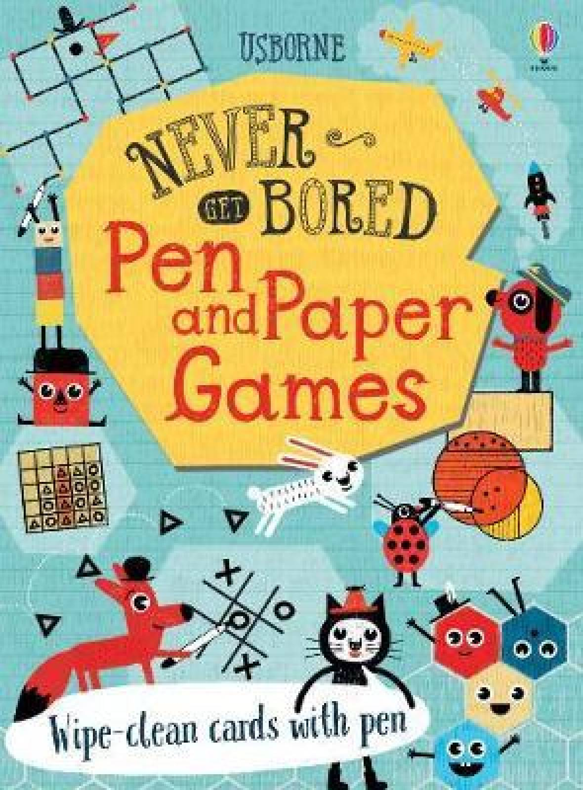 Never Get Bored Pen And Paper Games Cards