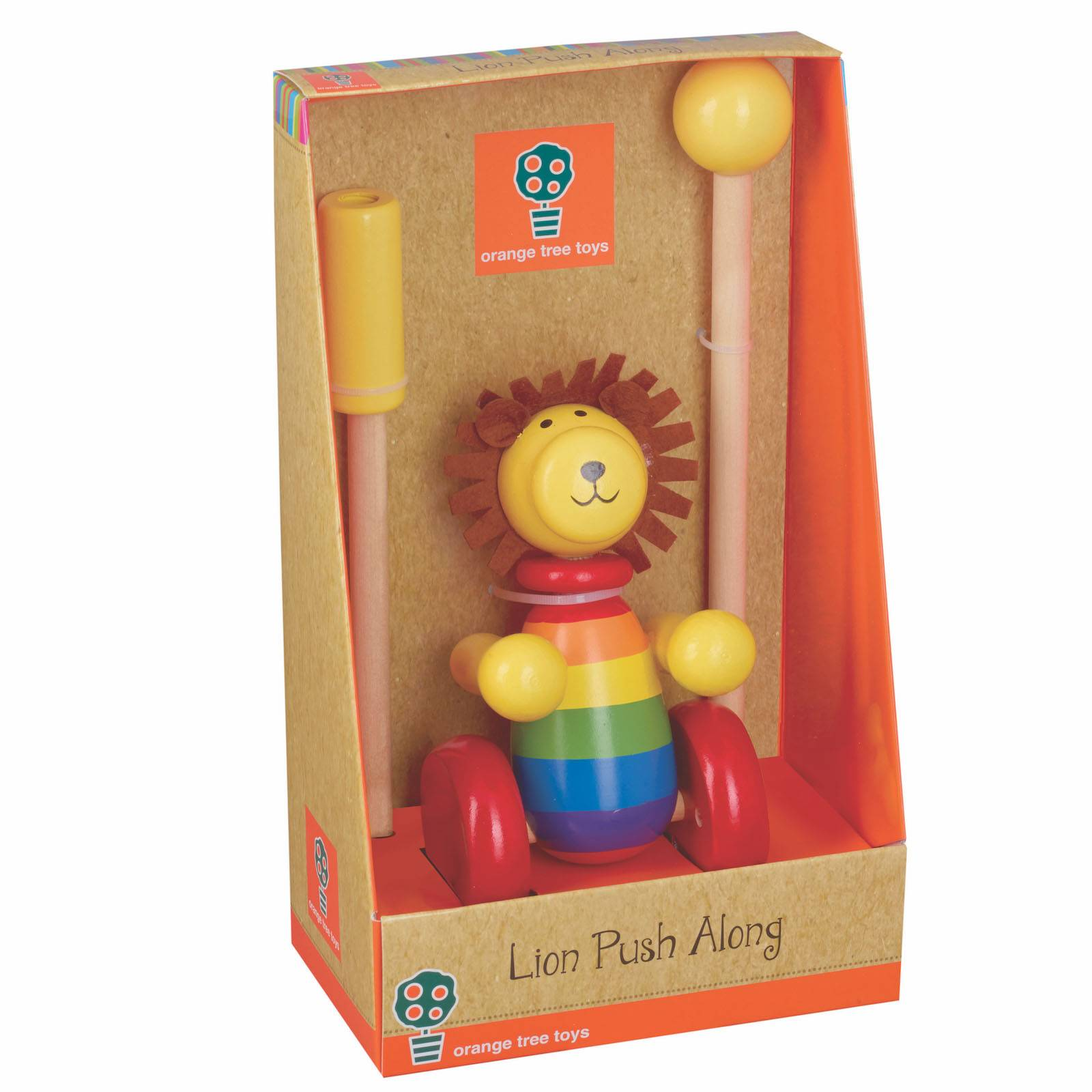 Lion Push Along Toy Boxed 12mth+