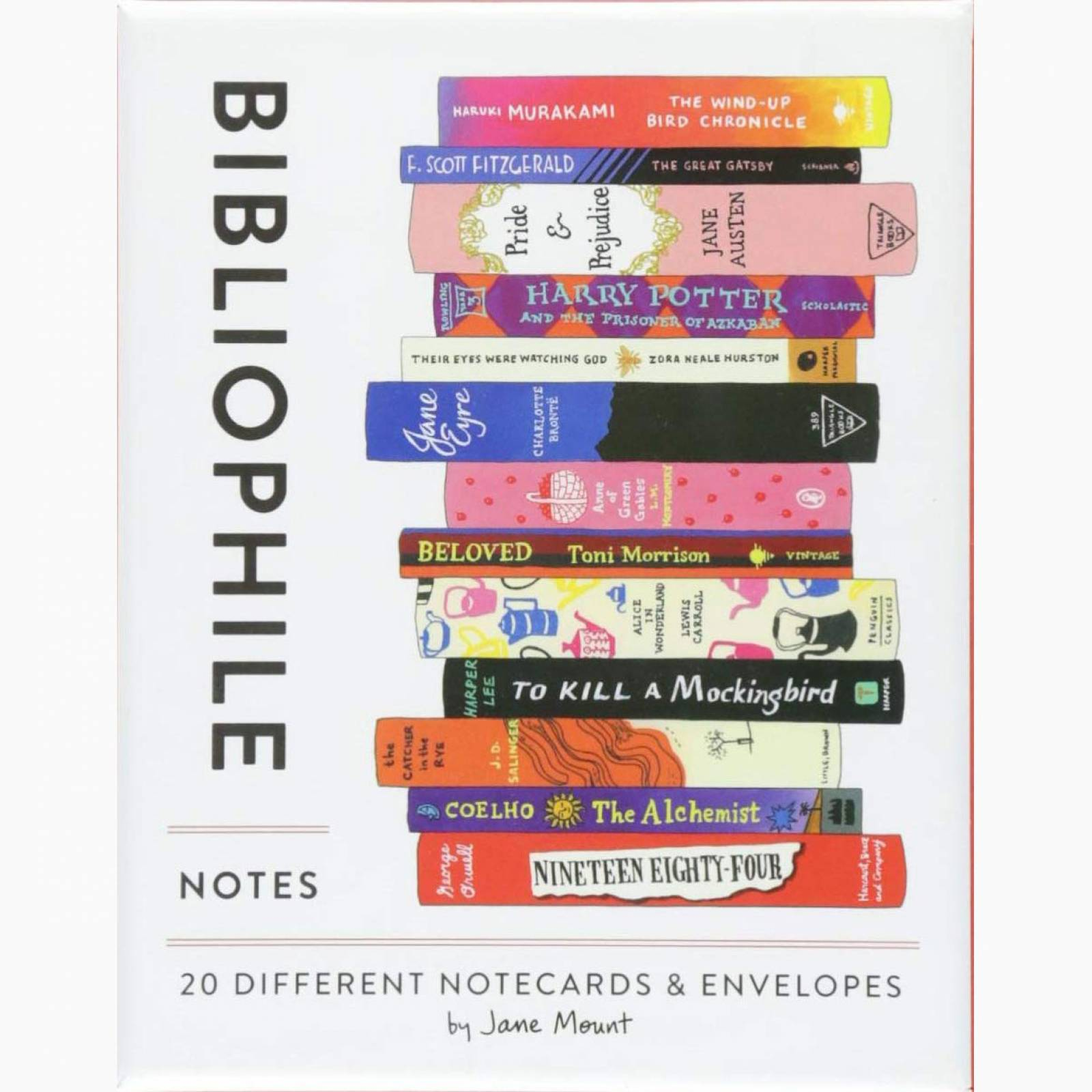 Bibliophile Notes: 20 Notecards And Envelopes