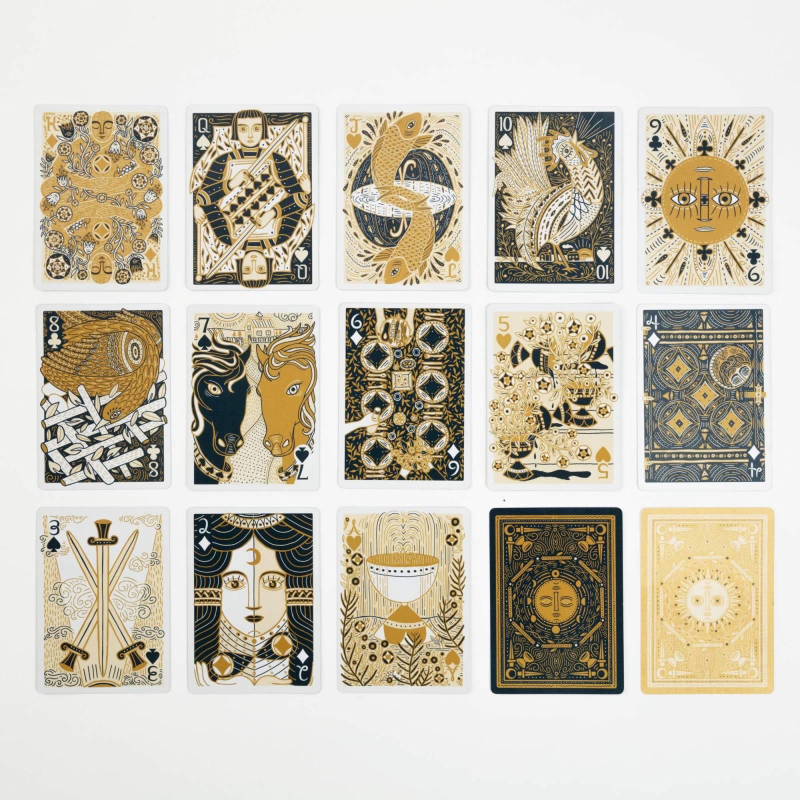 Boxed Set Of Illuminated Playing Cards thumbnails