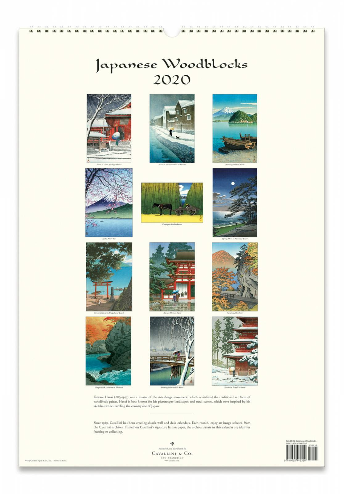 Japanese Woodblocks Wall Calendar by Cavallini thumbnails