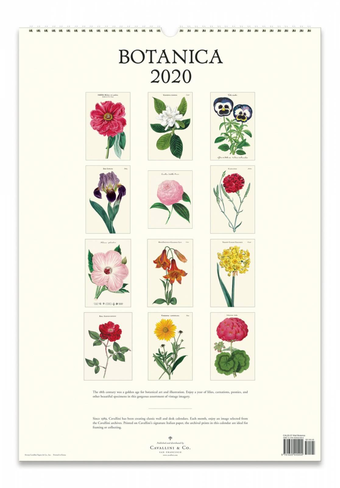 Botanica Wall Calendar By Cavallini thumbnails
