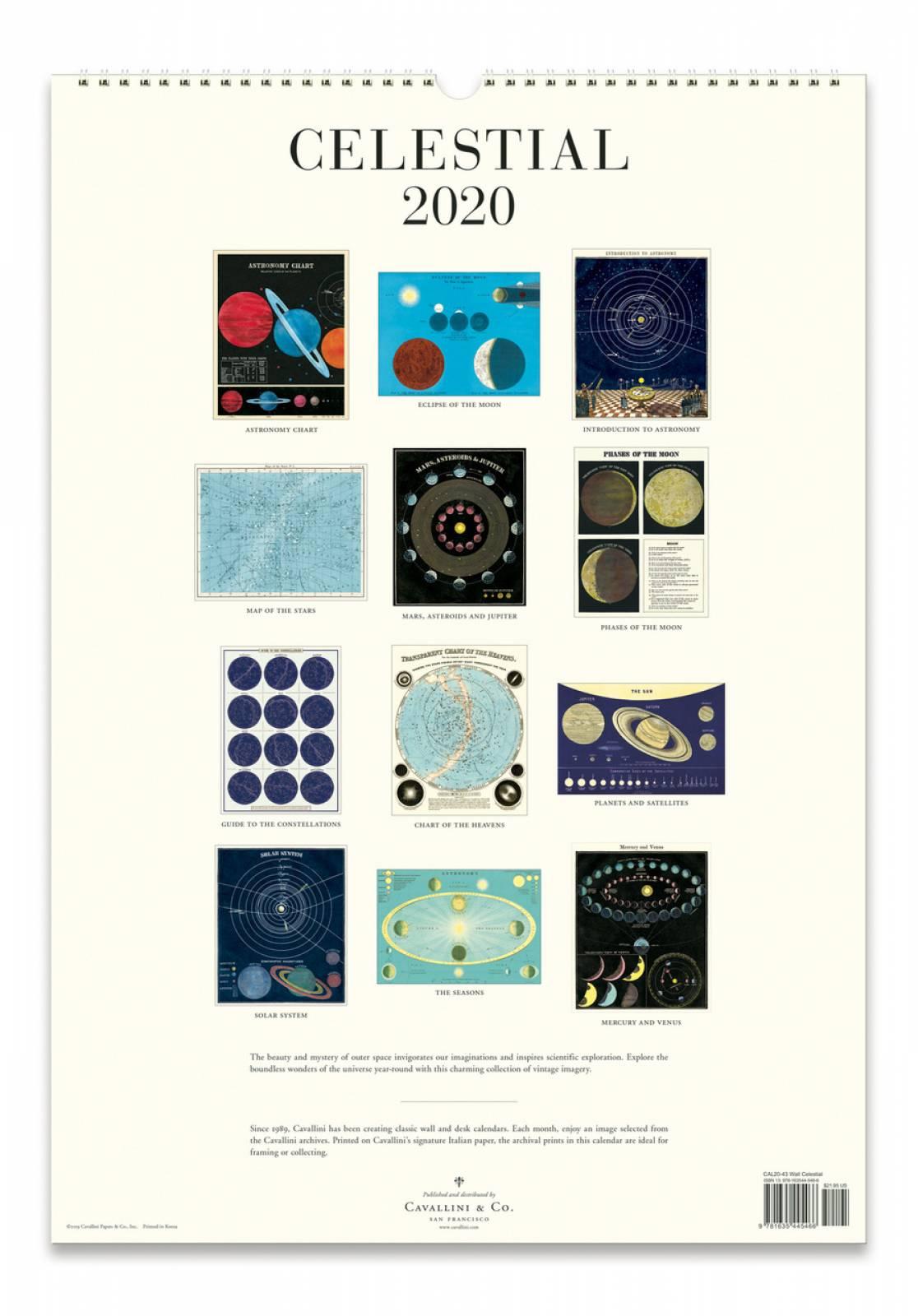 Celestial Wall Calendar By Cavallini thumbnails