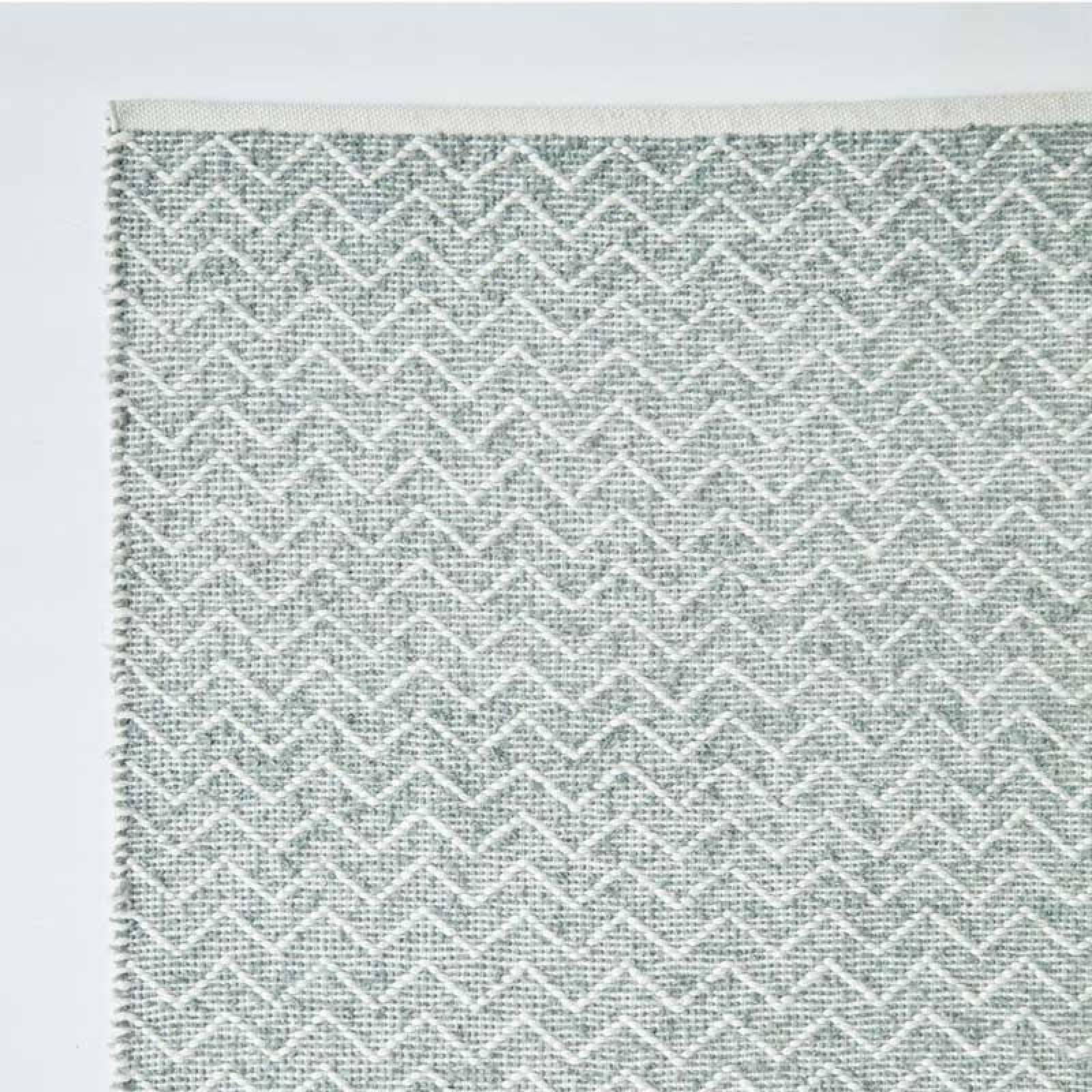 Chenille Dove Grey 240 x 70cm Recycled Bottle Rug