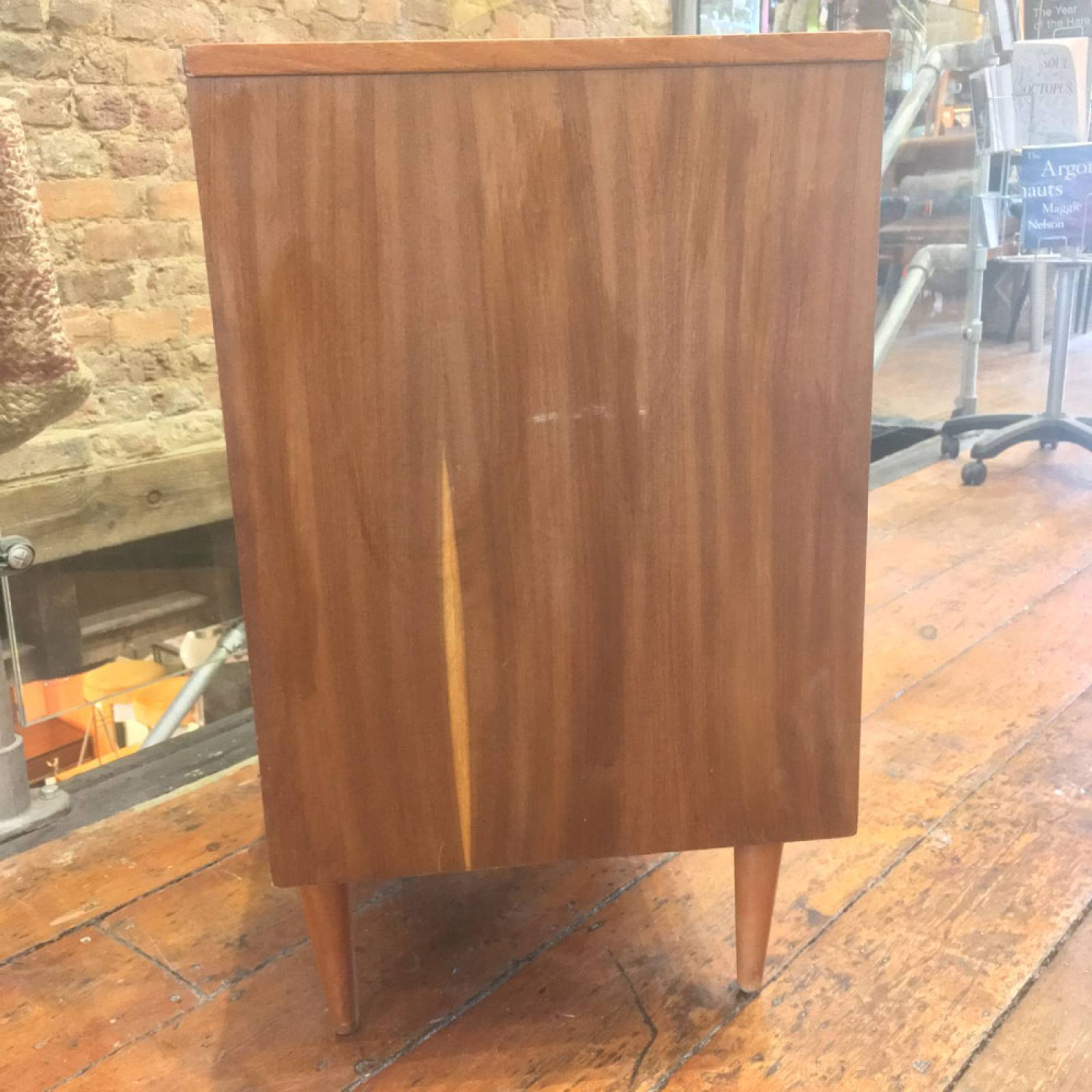 1970s Teak Chest Of Drawers On Tapering Legs thumbnails