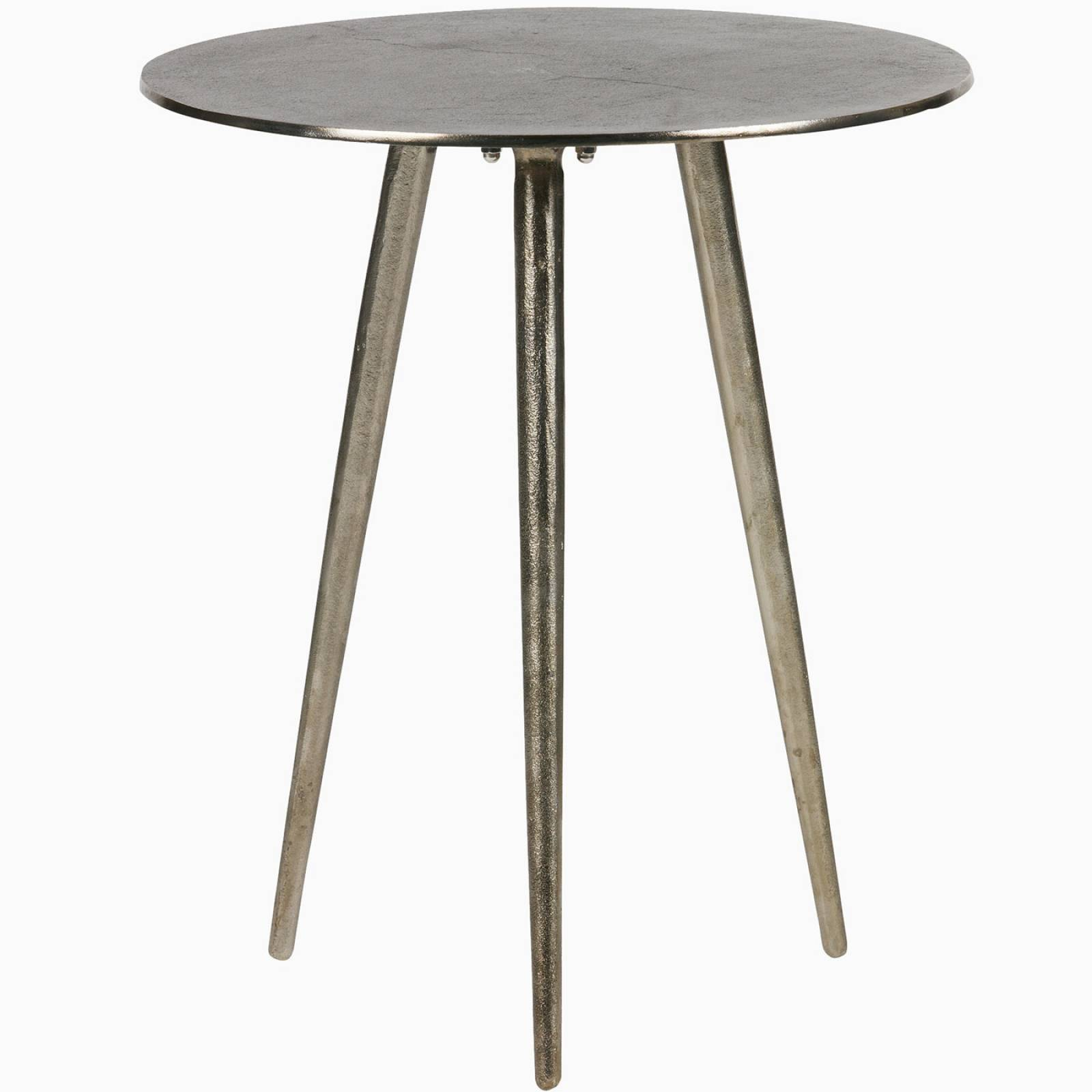 Circular Burnished Gold Side Table