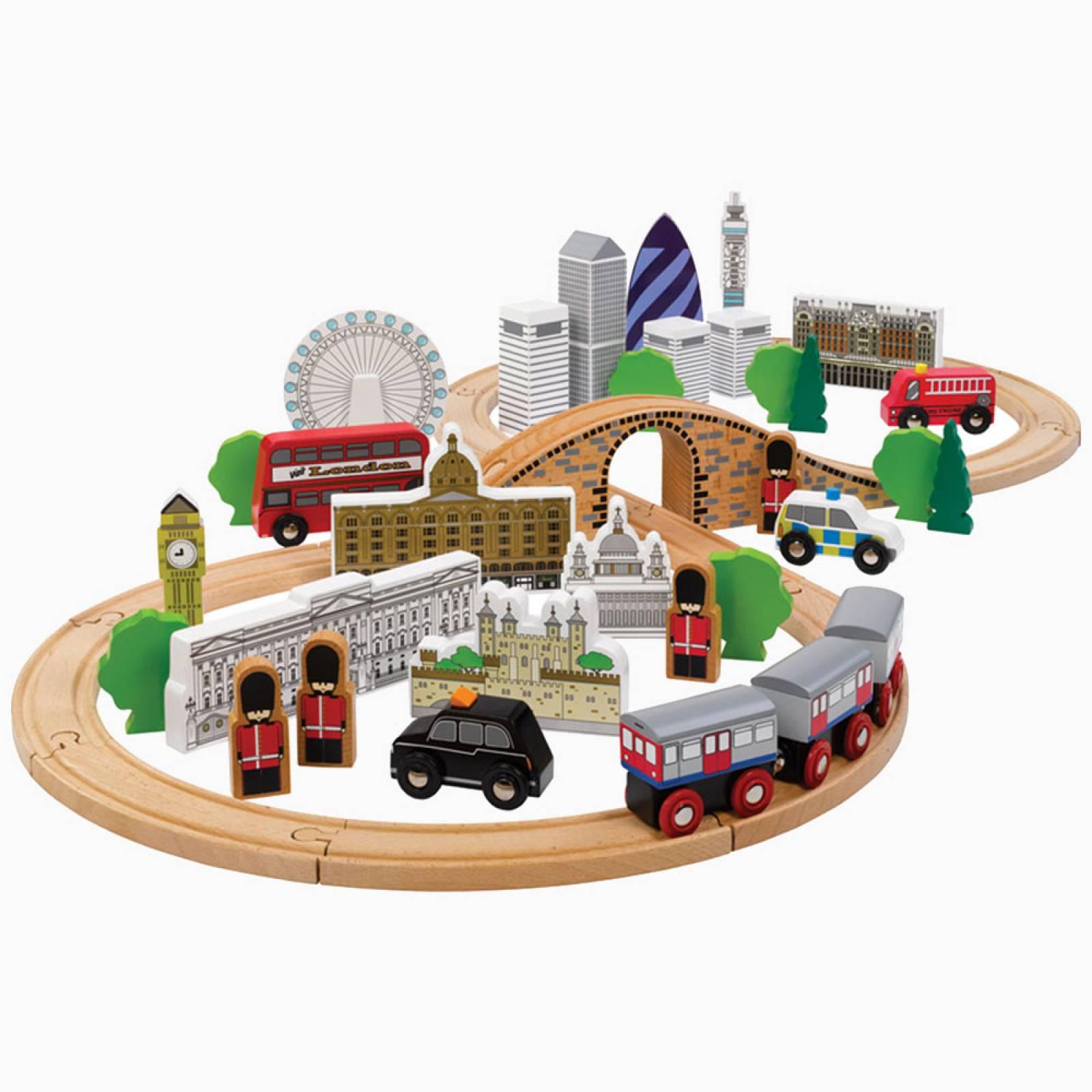 City Of London Train Set Wooden Railway 3+