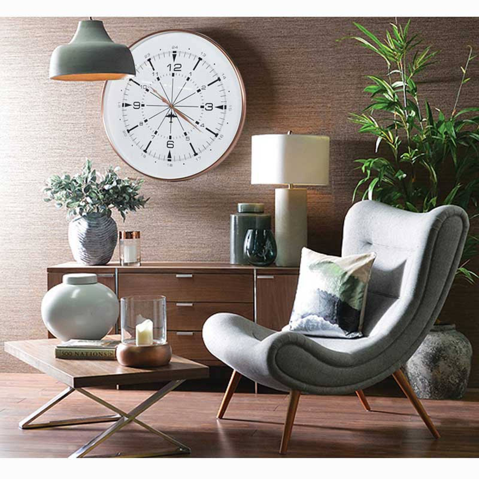 Copper Finish Airport Wall Clock Large 76cm thumbnails
