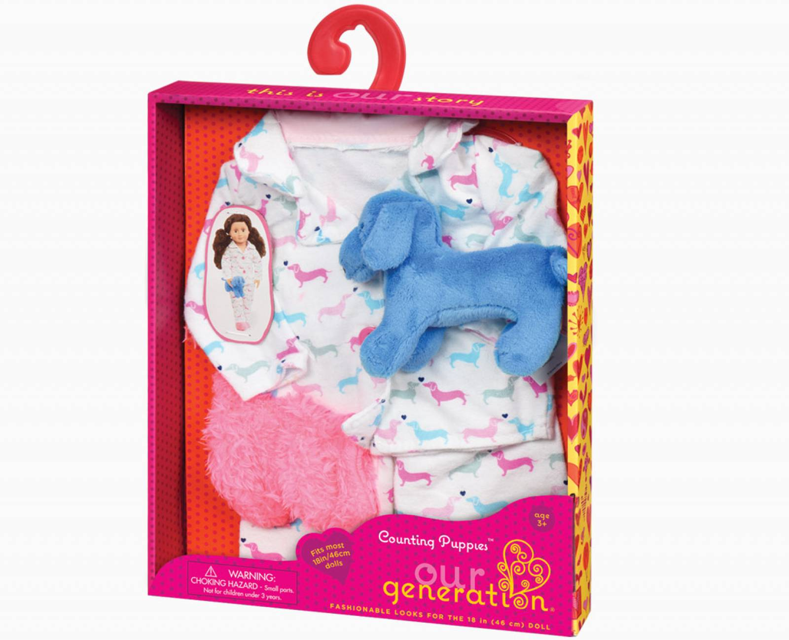 Counting Puppies My Generation Doll Clothes Set 3+ thumbnails
