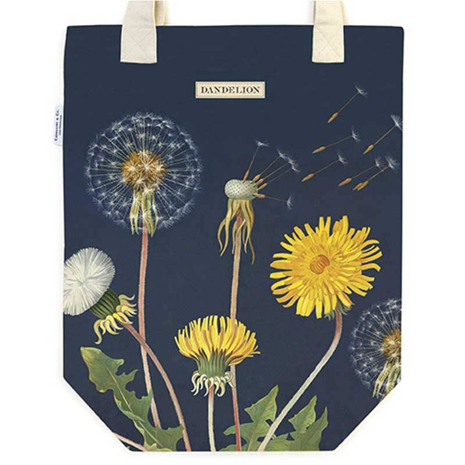 Dandelion Cotton Tote Bag