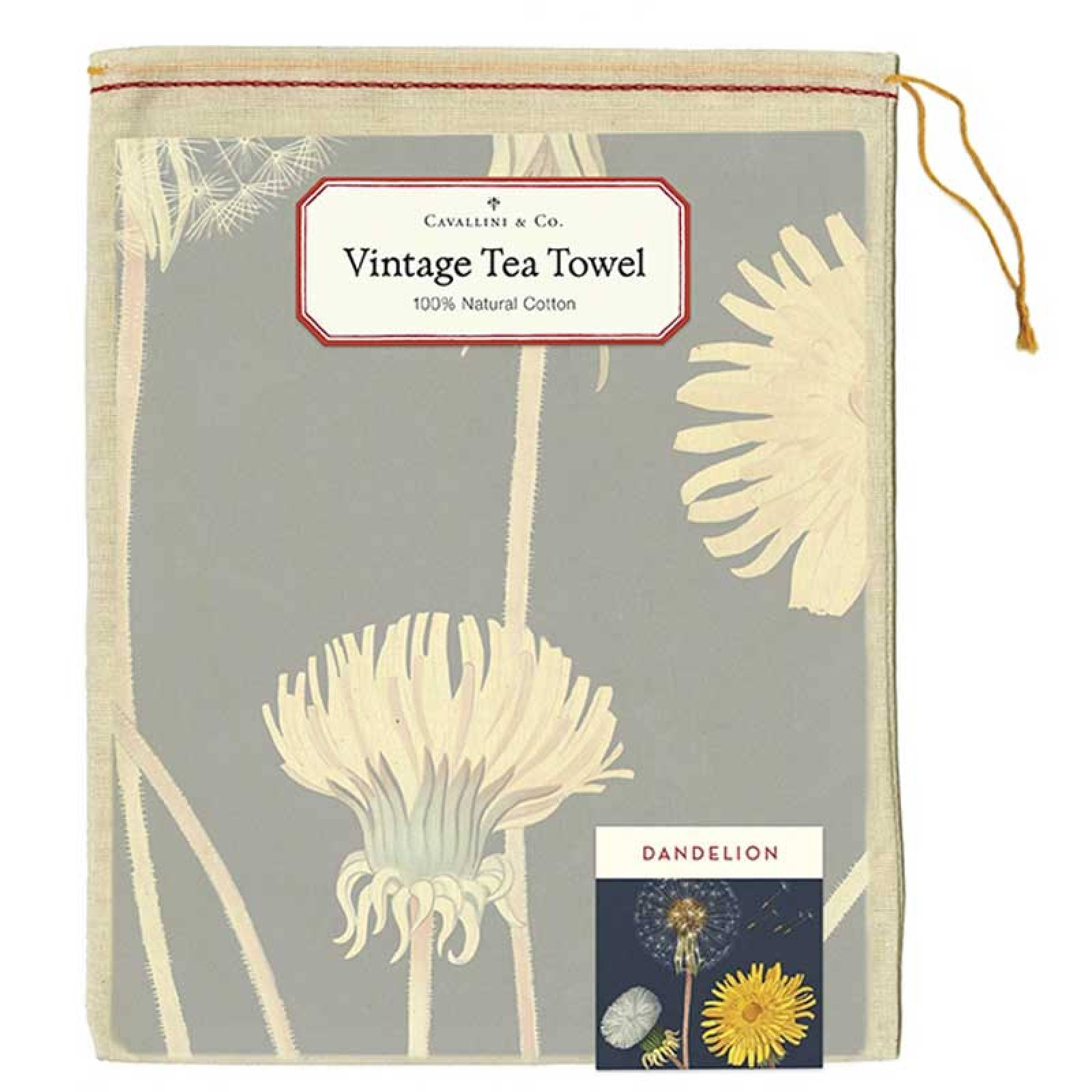 Dandelion Tea Towel With Gift Bag thumbnails
