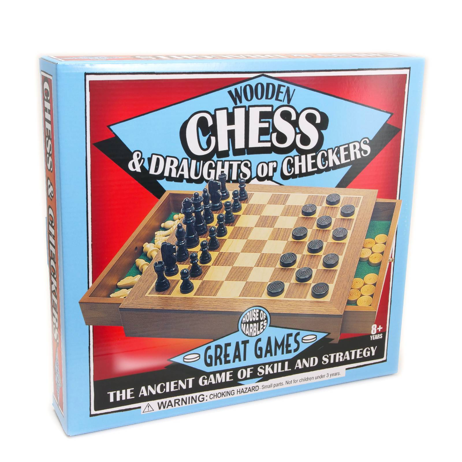 Deluxe Chess And Draughts In Box With Drawer thumbnails