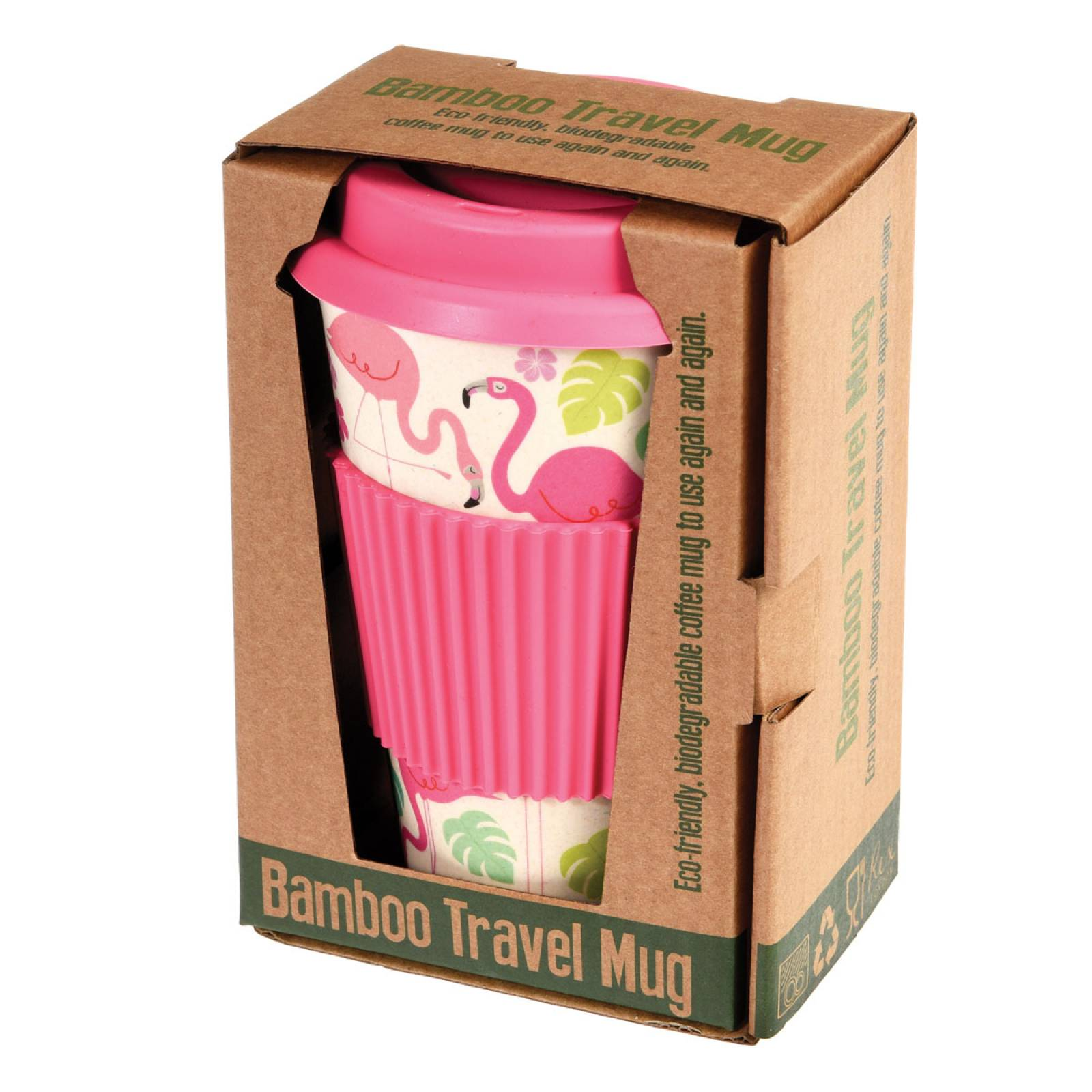 Flamingo Bamboo Travel Mug thumbnails