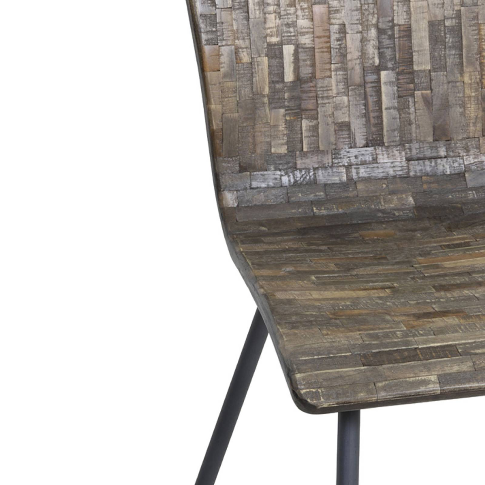 Flores Reclaimed Wood Curved Dining Chair thumbnails