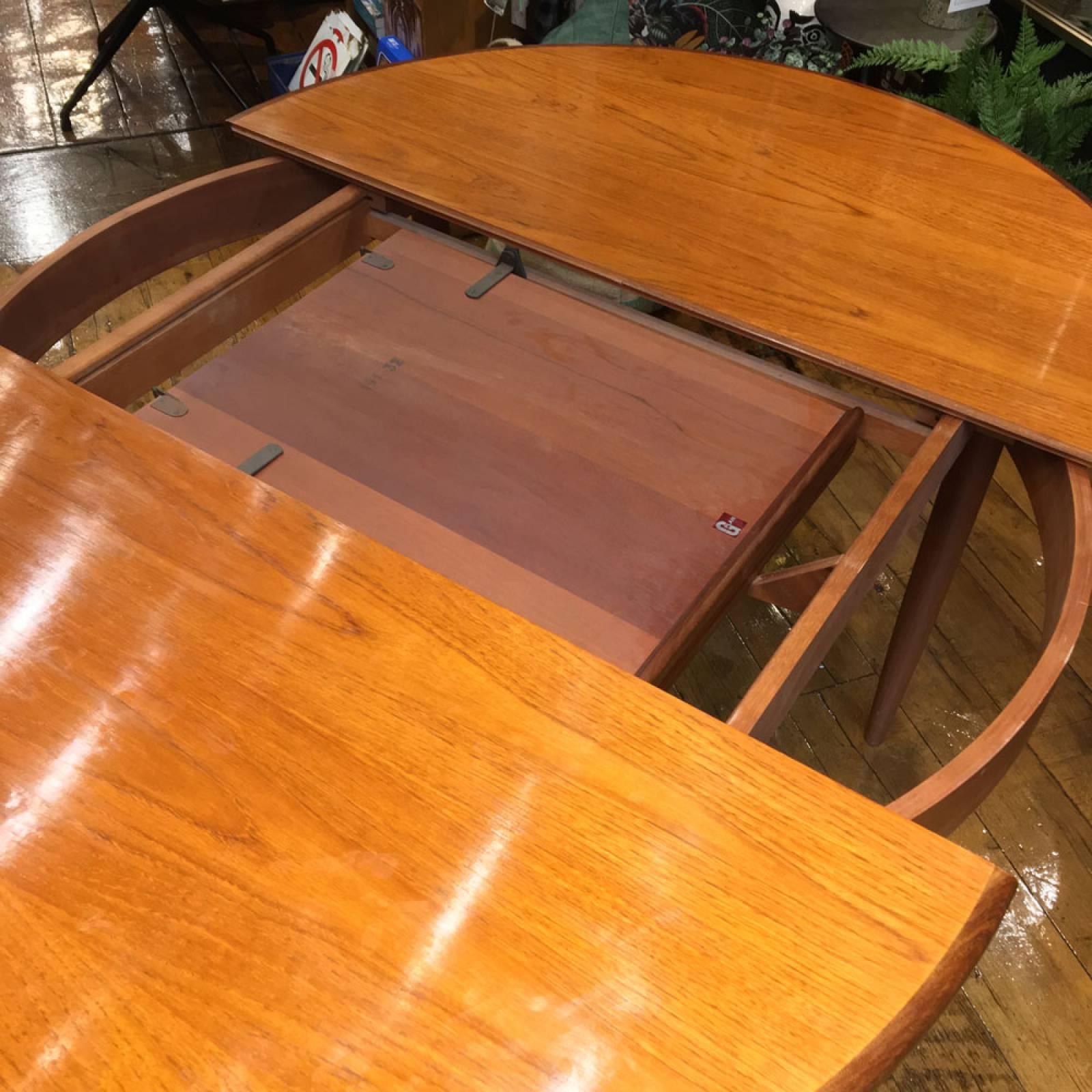 1960s G Plan Fresco Model 4385 Circular Extending Dining Table thumbnails