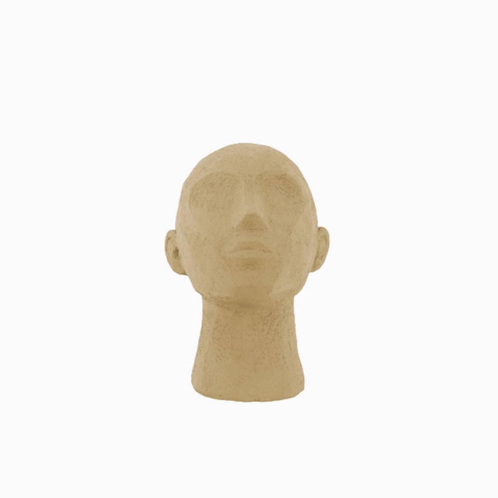 Gazing Head Model In Sand Brown