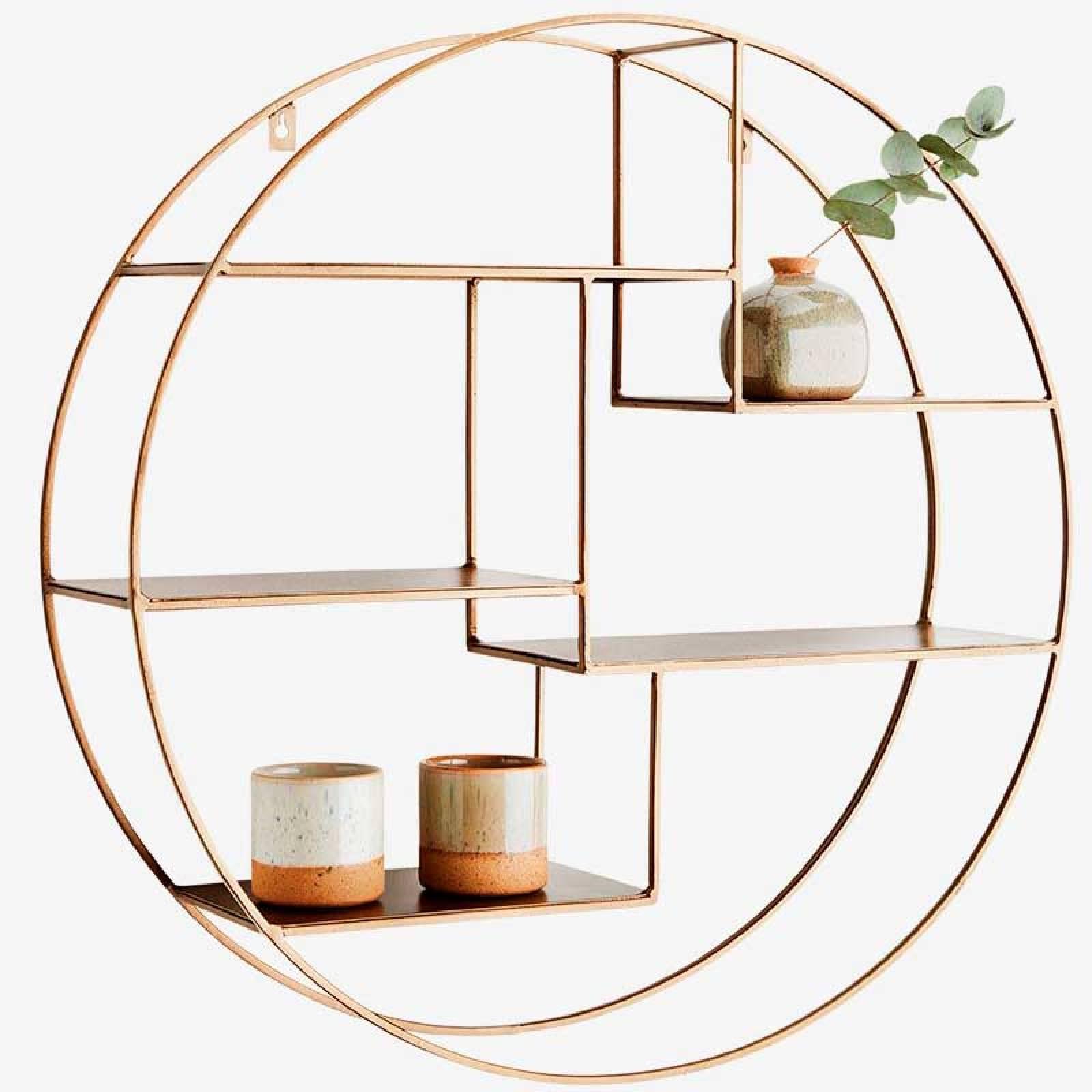 Large Gold Circular Shelves