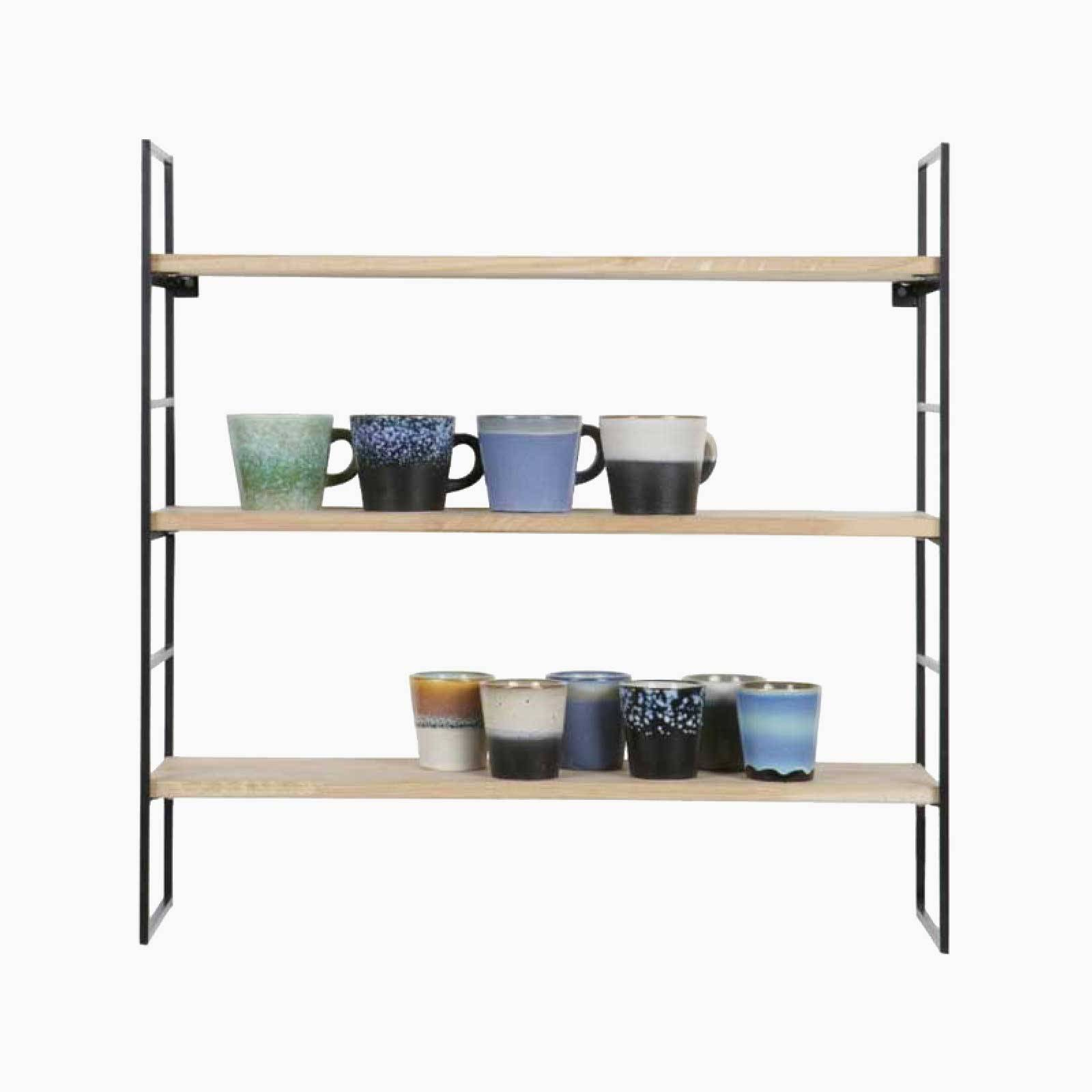 Meert Wall Shelf Black Metal Laddder Side
