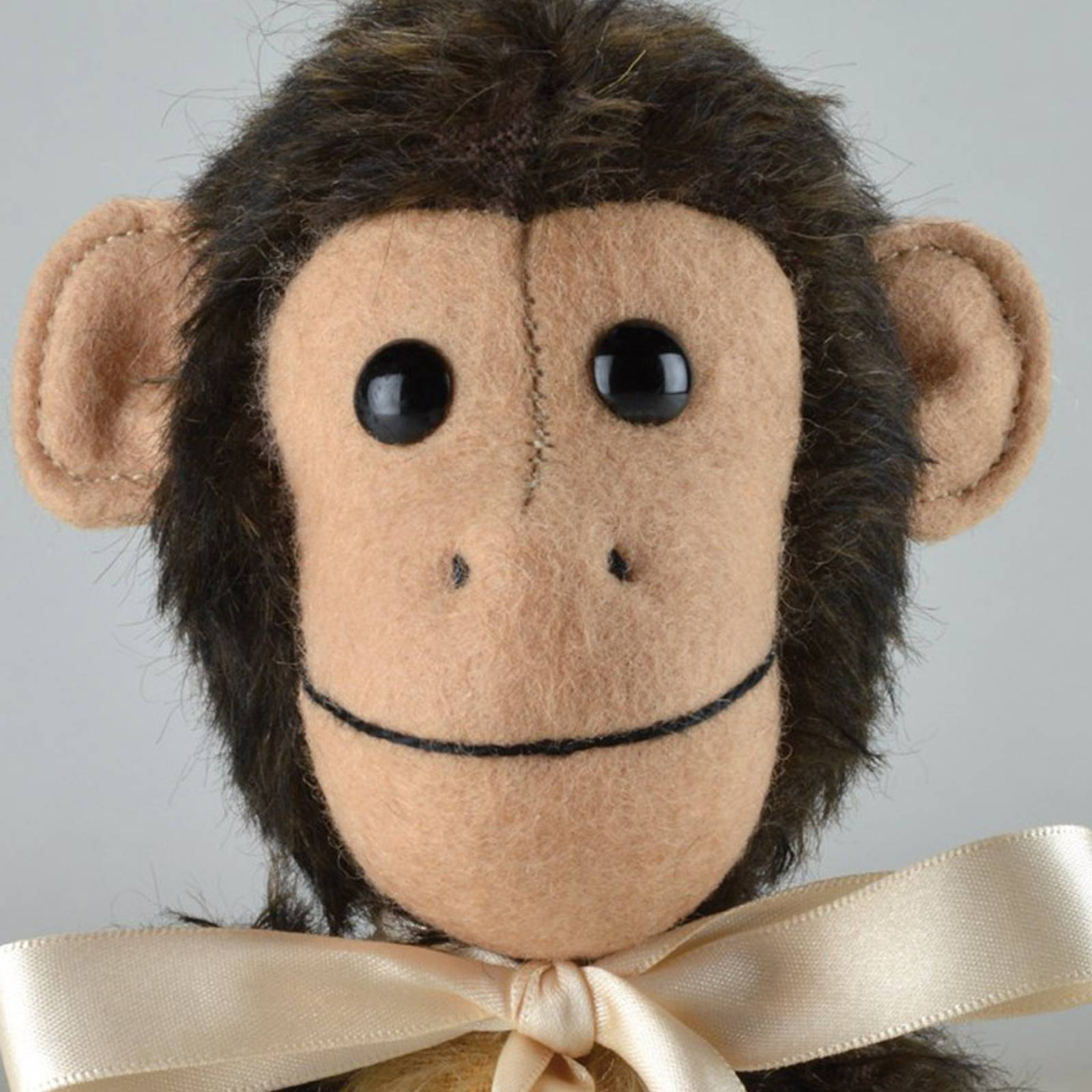 """Mohair Milo Monkey 9"""" Handmade By Merrythought thumbnails"""