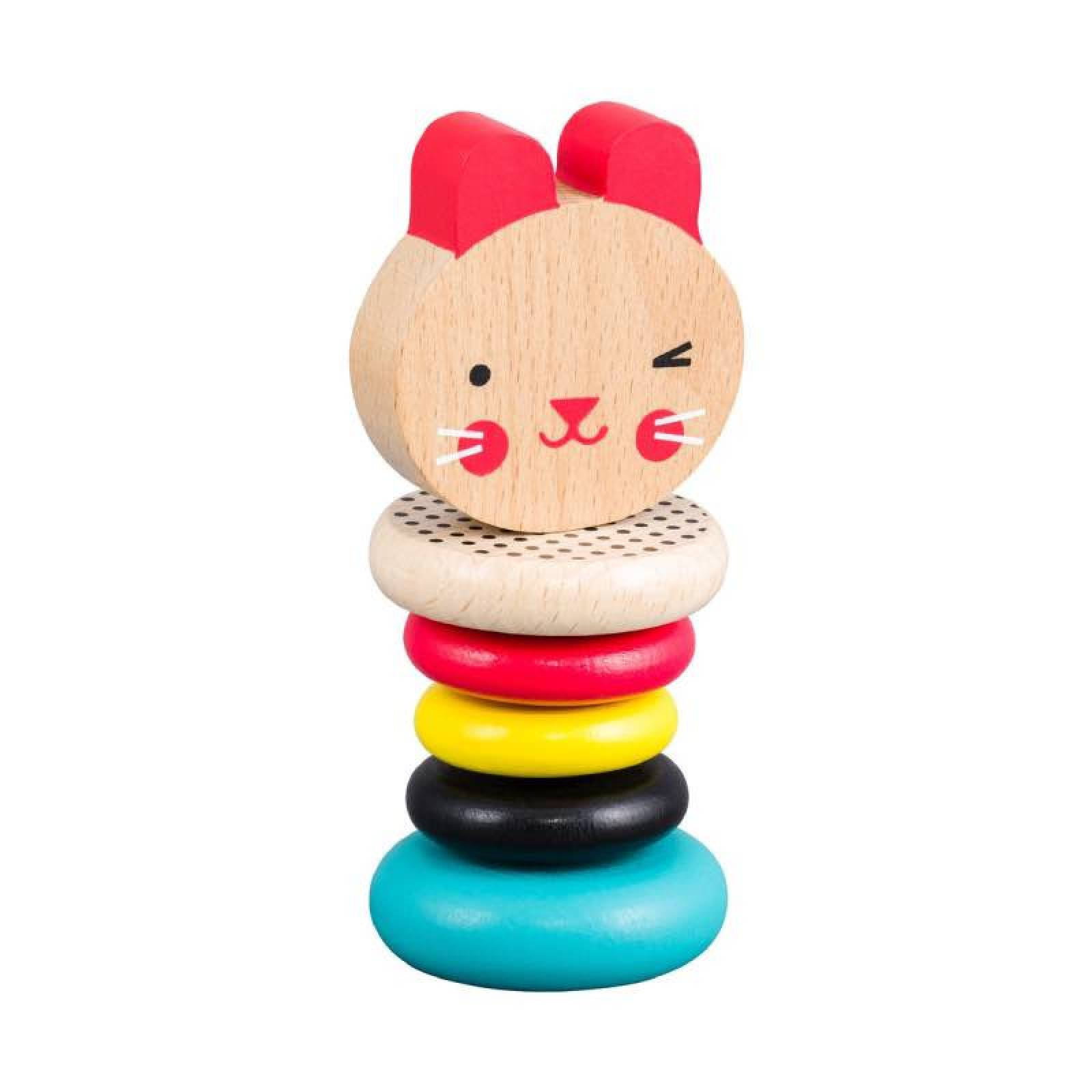 Modern Bunny Wooden Rattle by Petit Collage 6m+